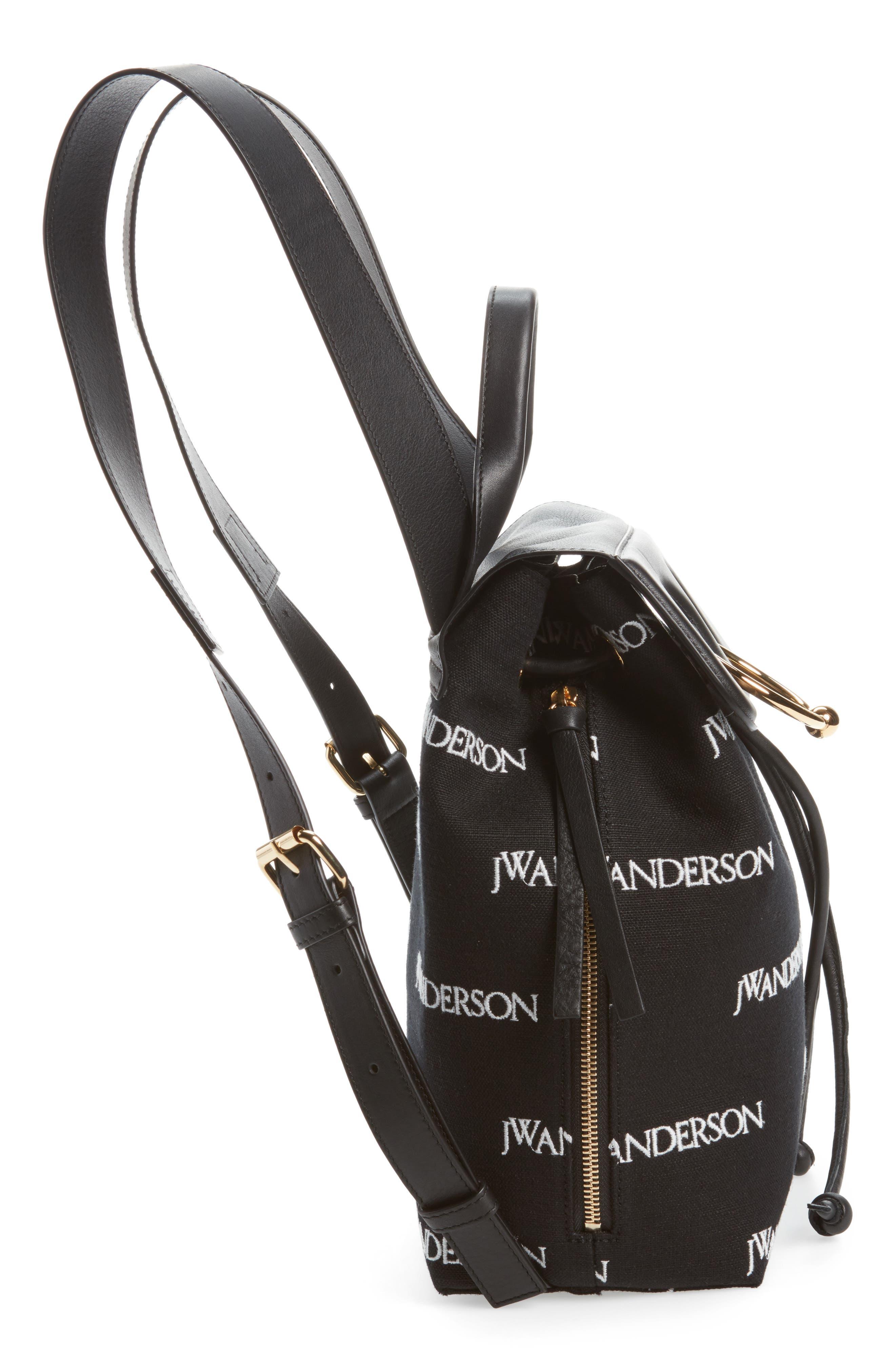 Mini Pierce Logo Backpack,                             Alternate thumbnail 5, color,                             001