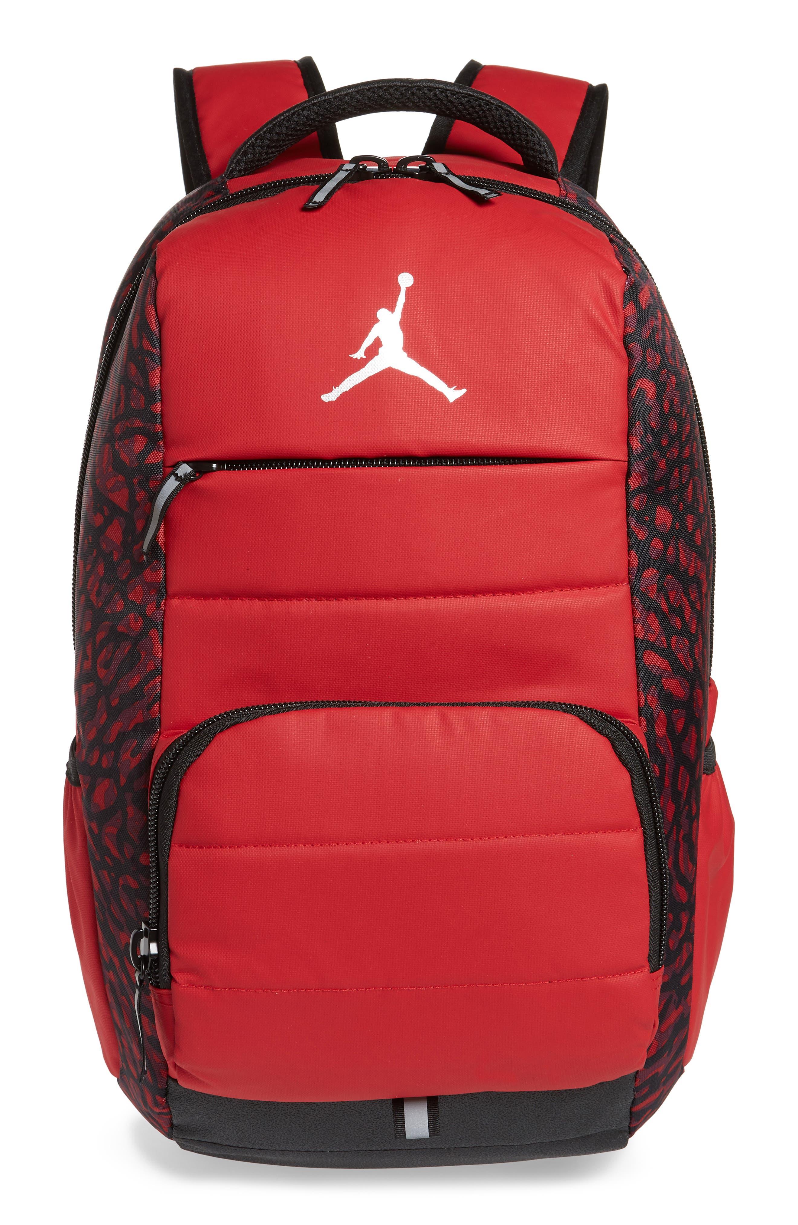 Boys Jordan All World Backpack  Red