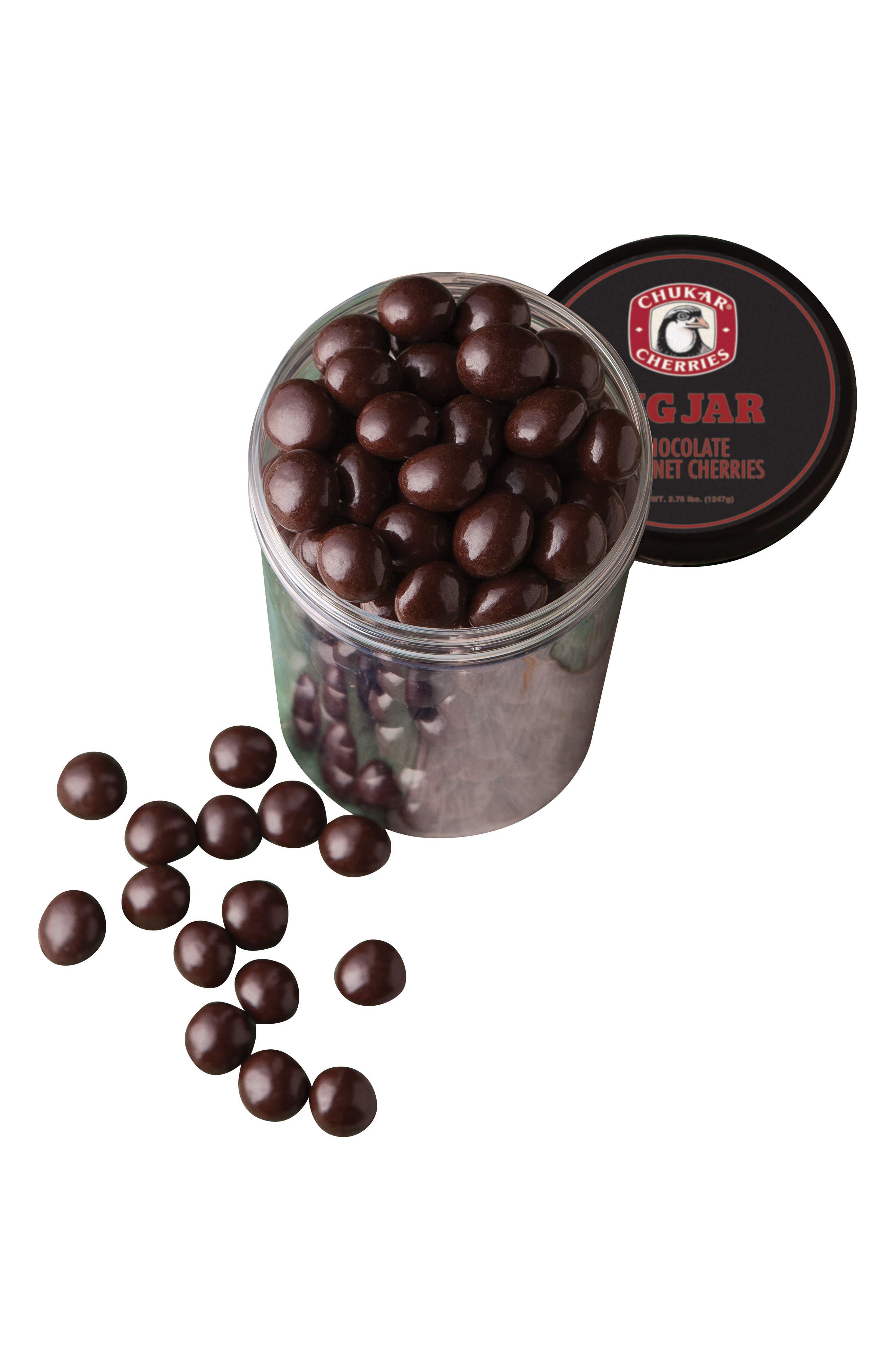 CHUKAR CHERRIES,                             Chocolate Cabernet Cherries Gift Jar,                             Alternate thumbnail 2, color,                             CHOCOLATE CHERRIES