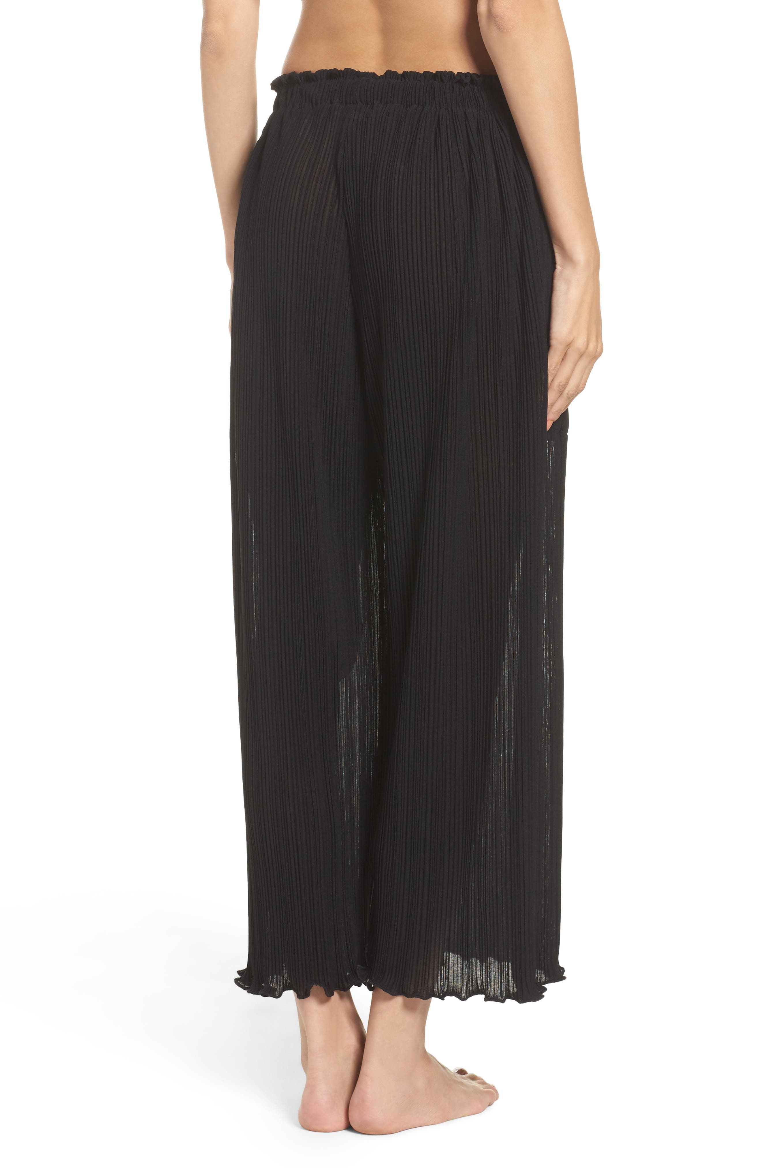 Mika Pleated Lounge Pants,                             Alternate thumbnail 2, color,                             009