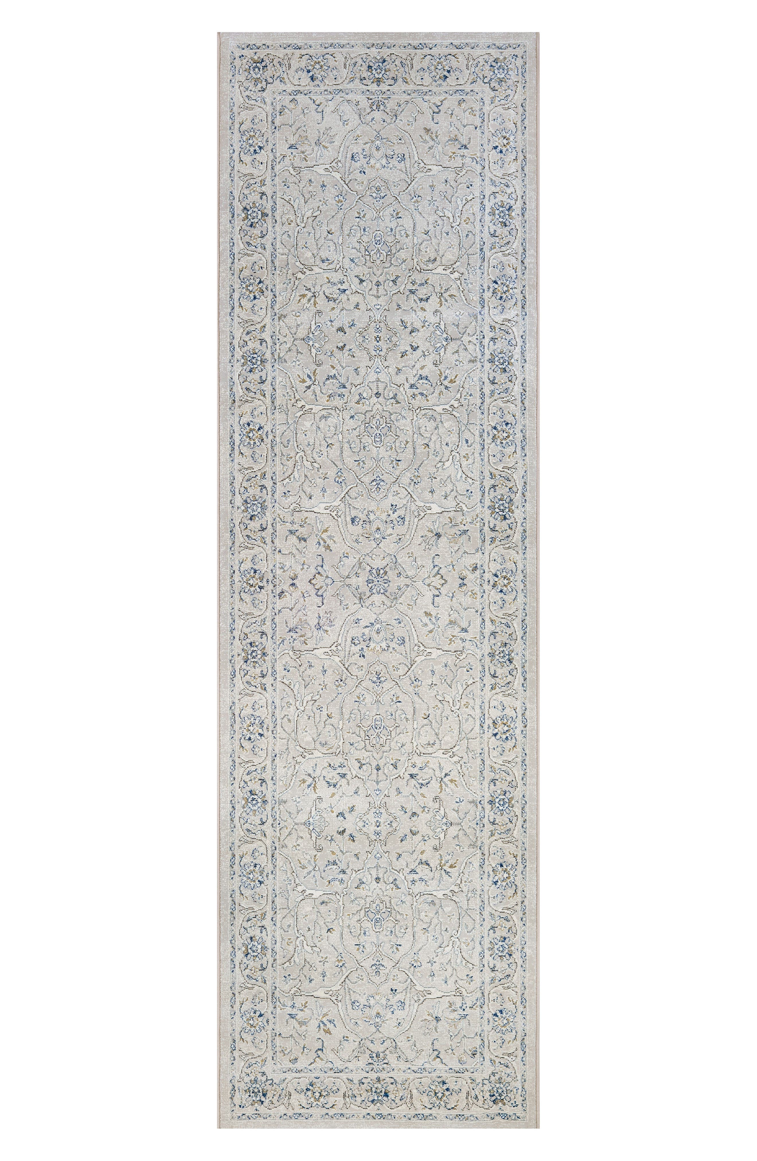 Floral Yazd Indoor/Outdoor Rug,                             Alternate thumbnail 2, color,                             GREY