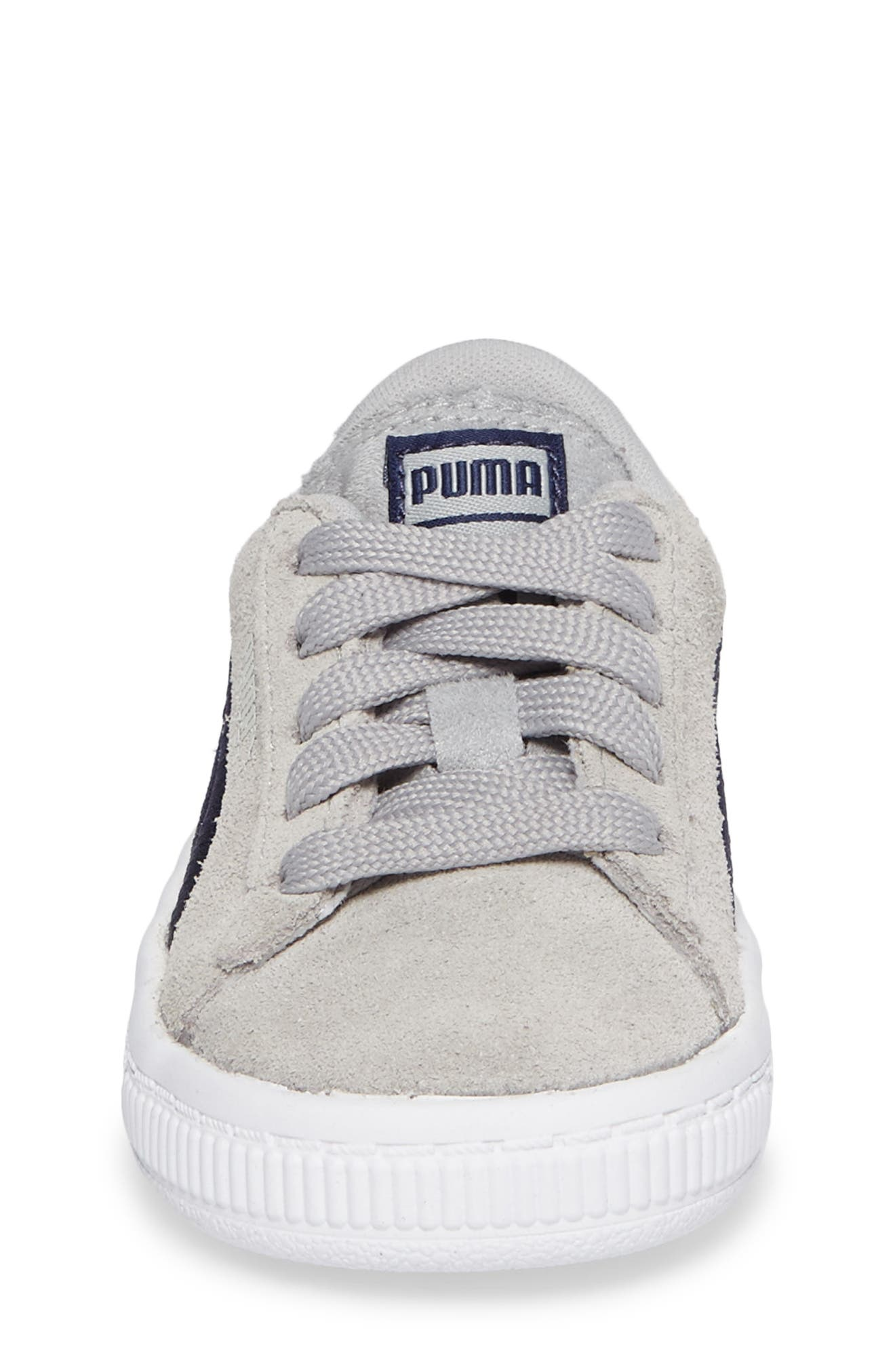 Suede Classic Badge Sneaker,                             Alternate thumbnail 4, color,                             060