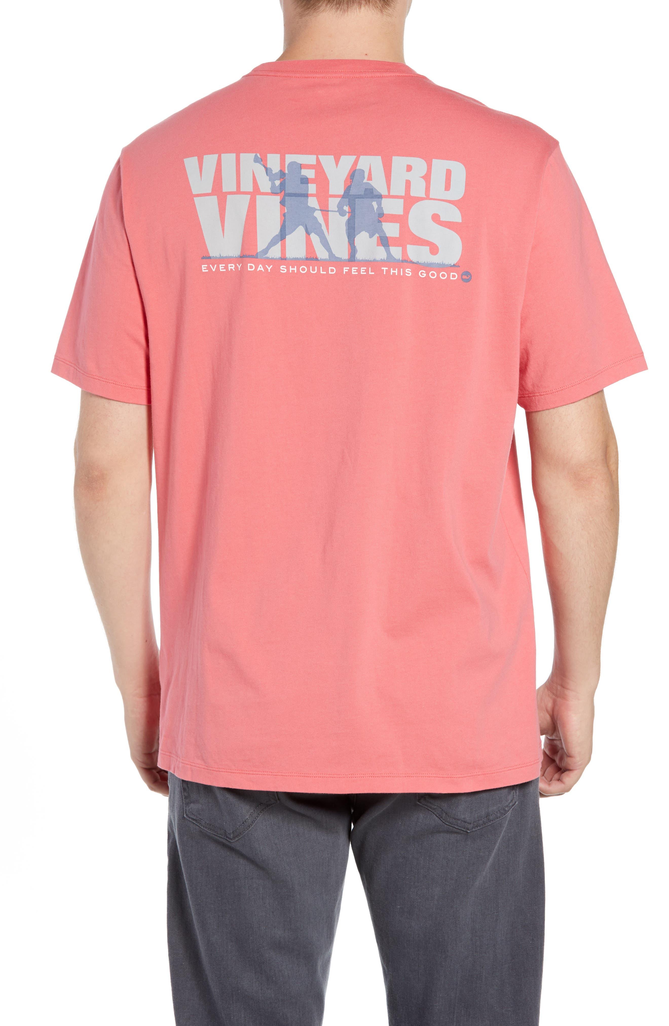Knockout Lacrosse Pocket T-Shirt,                             Alternate thumbnail 2, color,                             SAILORS RED