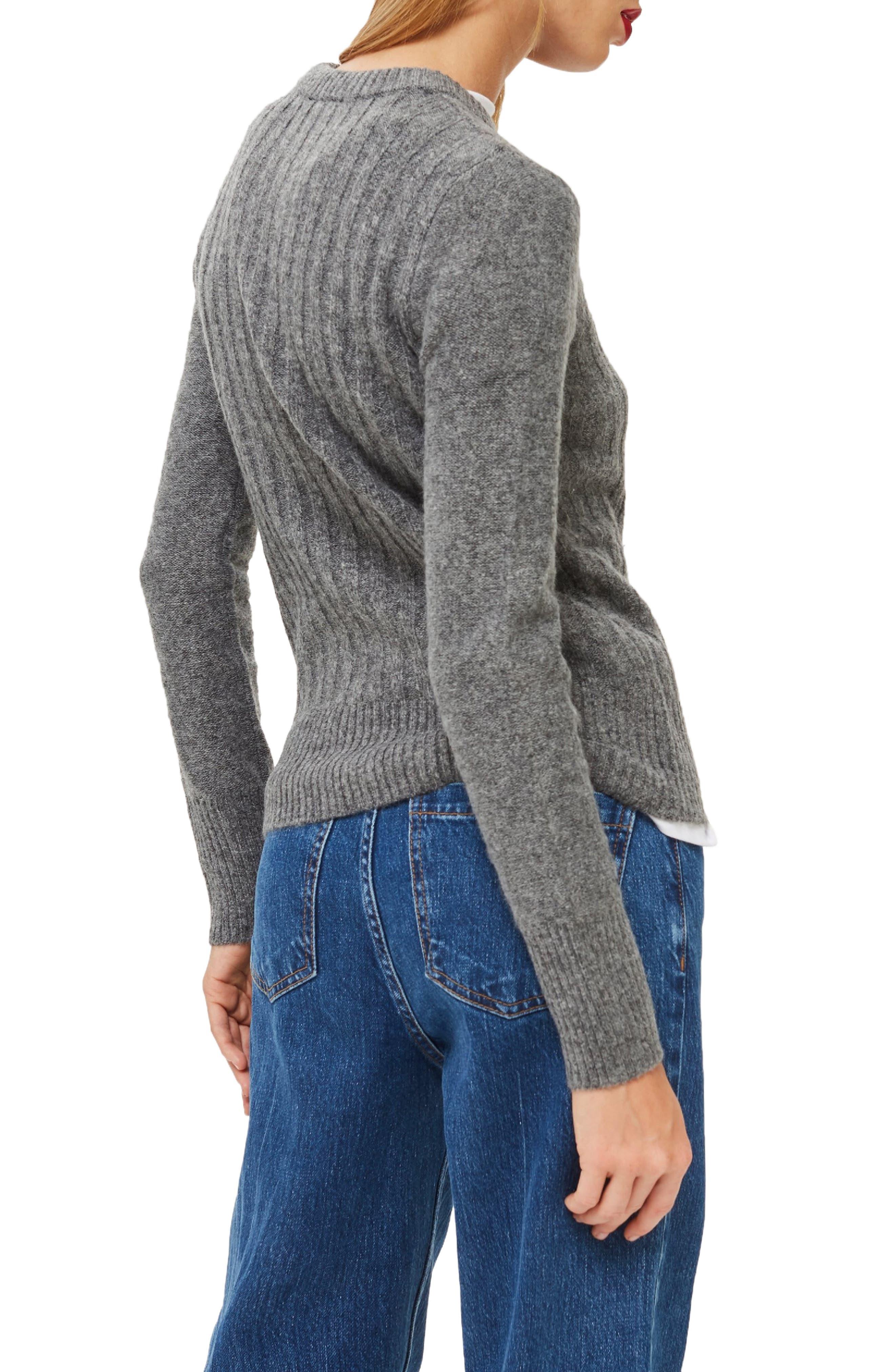 Rib Sweater,                             Alternate thumbnail 2, color,                             CHARCOAL