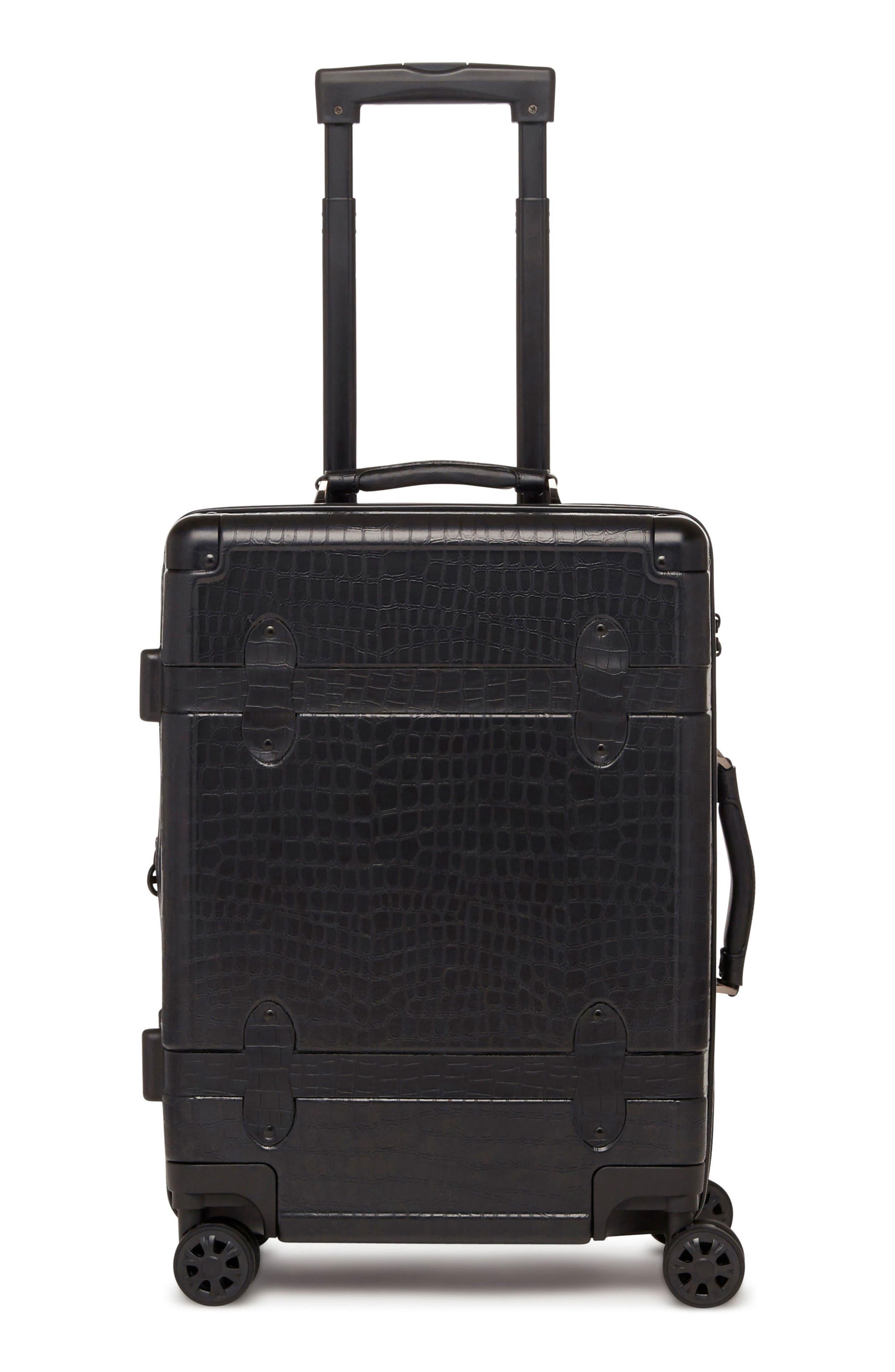 Trunk 22-Inch Rolling Suitcase,                             Main thumbnail 1, color,                             NOIR