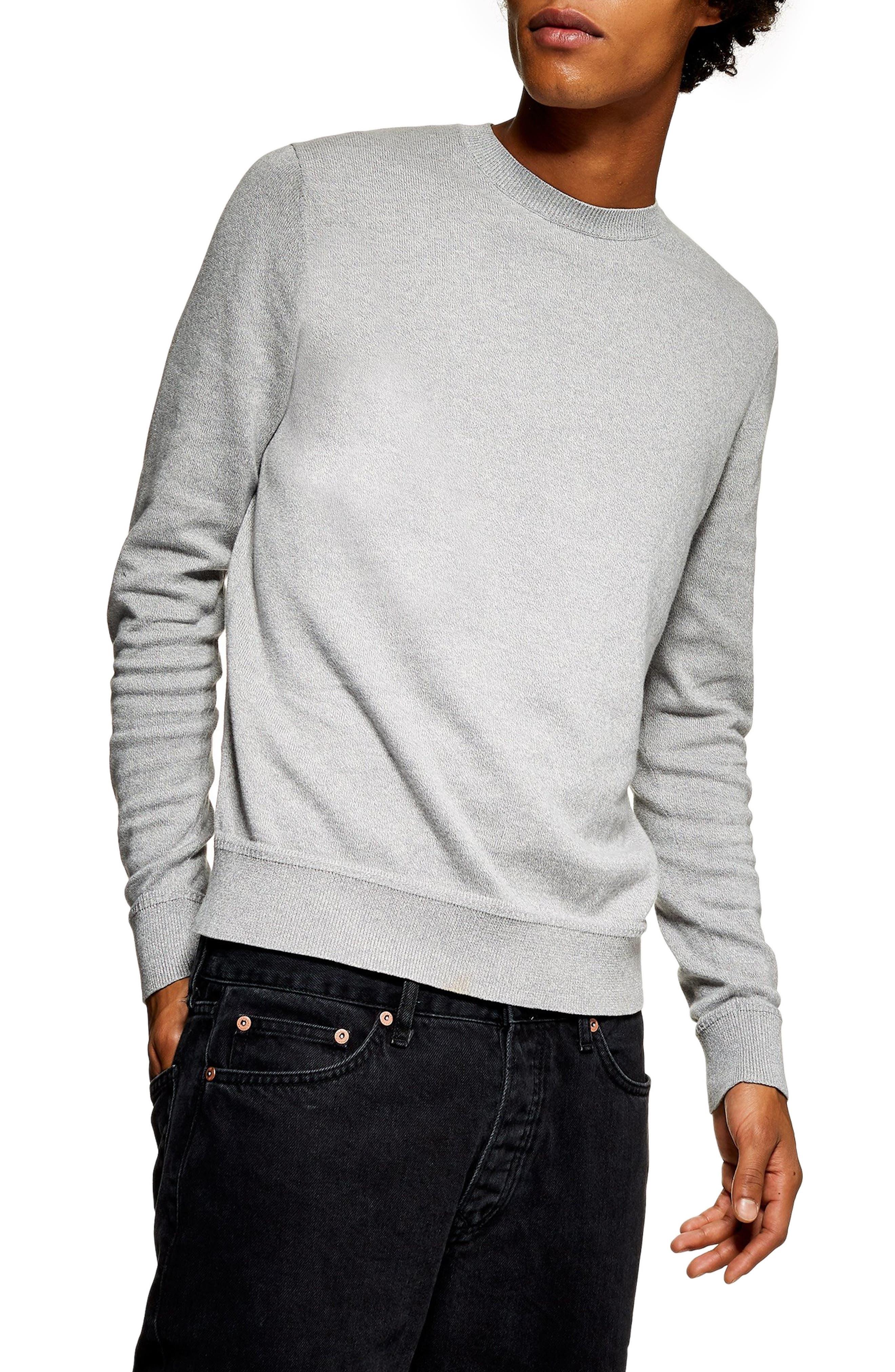 Marl Crewneck Sweater,                             Main thumbnail 1, color,                             CREAM