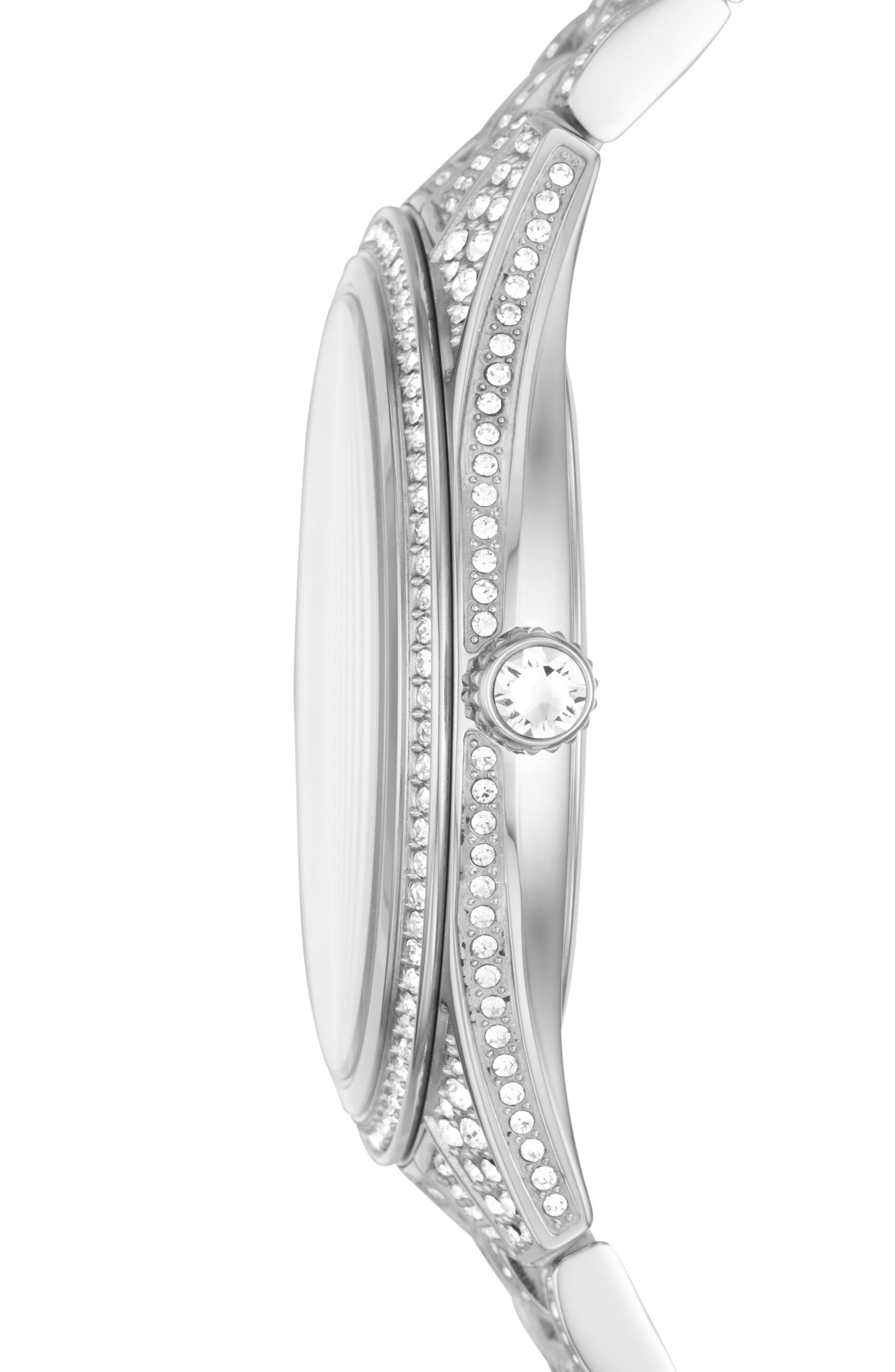 Lauryn Pavé Crystal Bracelet Watch, 38mm,                             Alternate thumbnail 2, color,