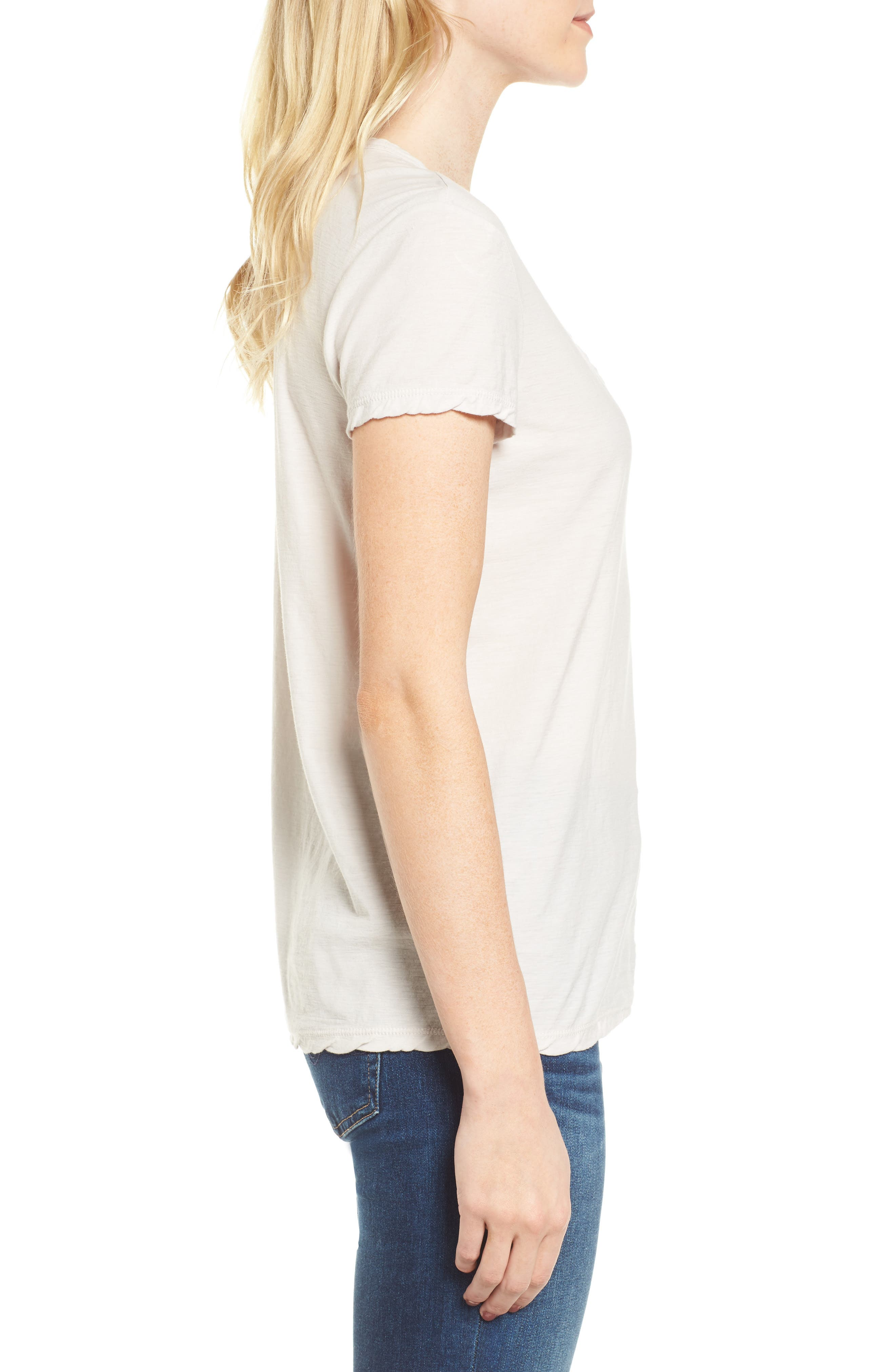 Deep V-Neck Tee,                             Alternate thumbnail 8, color,