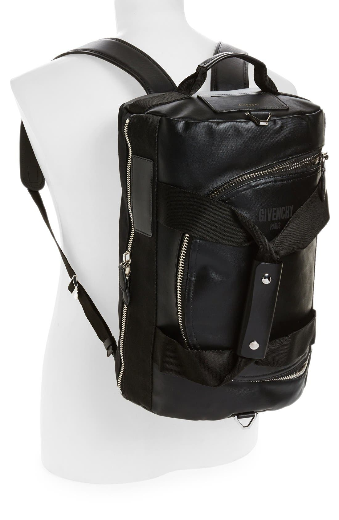 Coated Rubber Backpack,                             Alternate thumbnail 6, color,                             001
