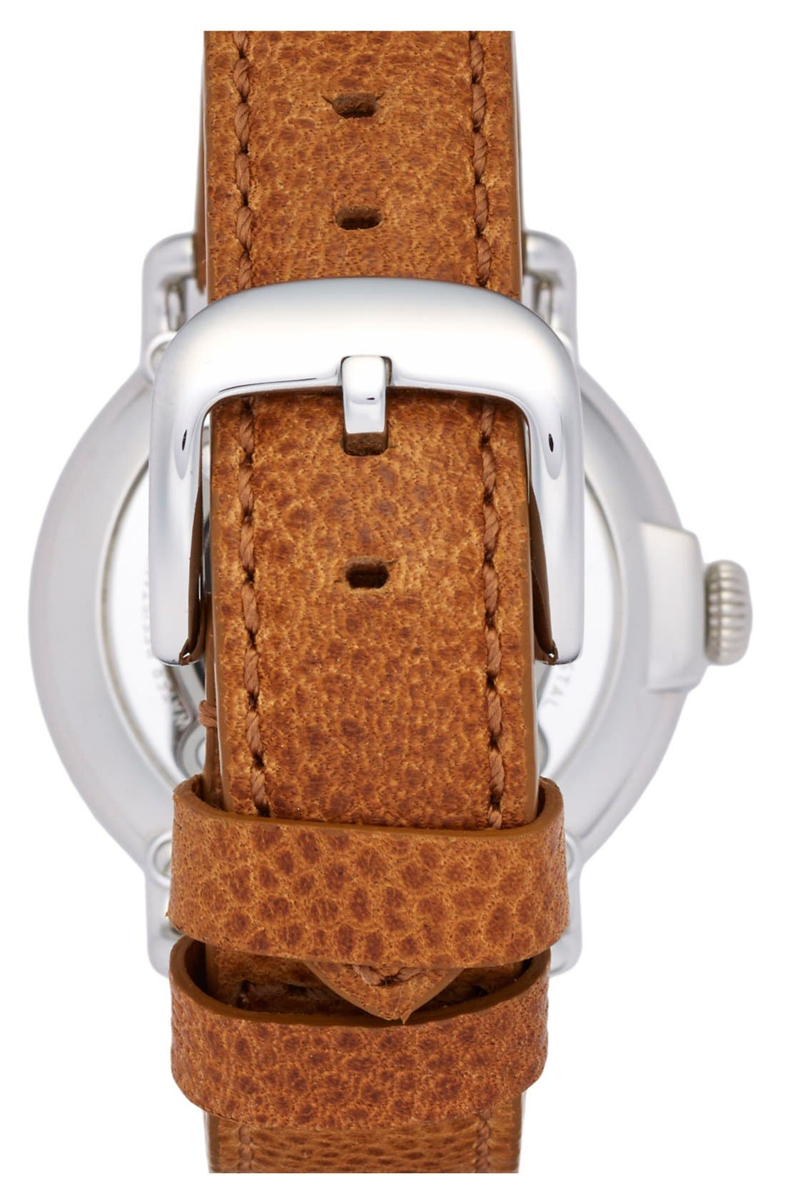 'Runwell' Leather Strap Watch, 41mm,                             Alternate thumbnail 3, color,                             TAN/ BLACK