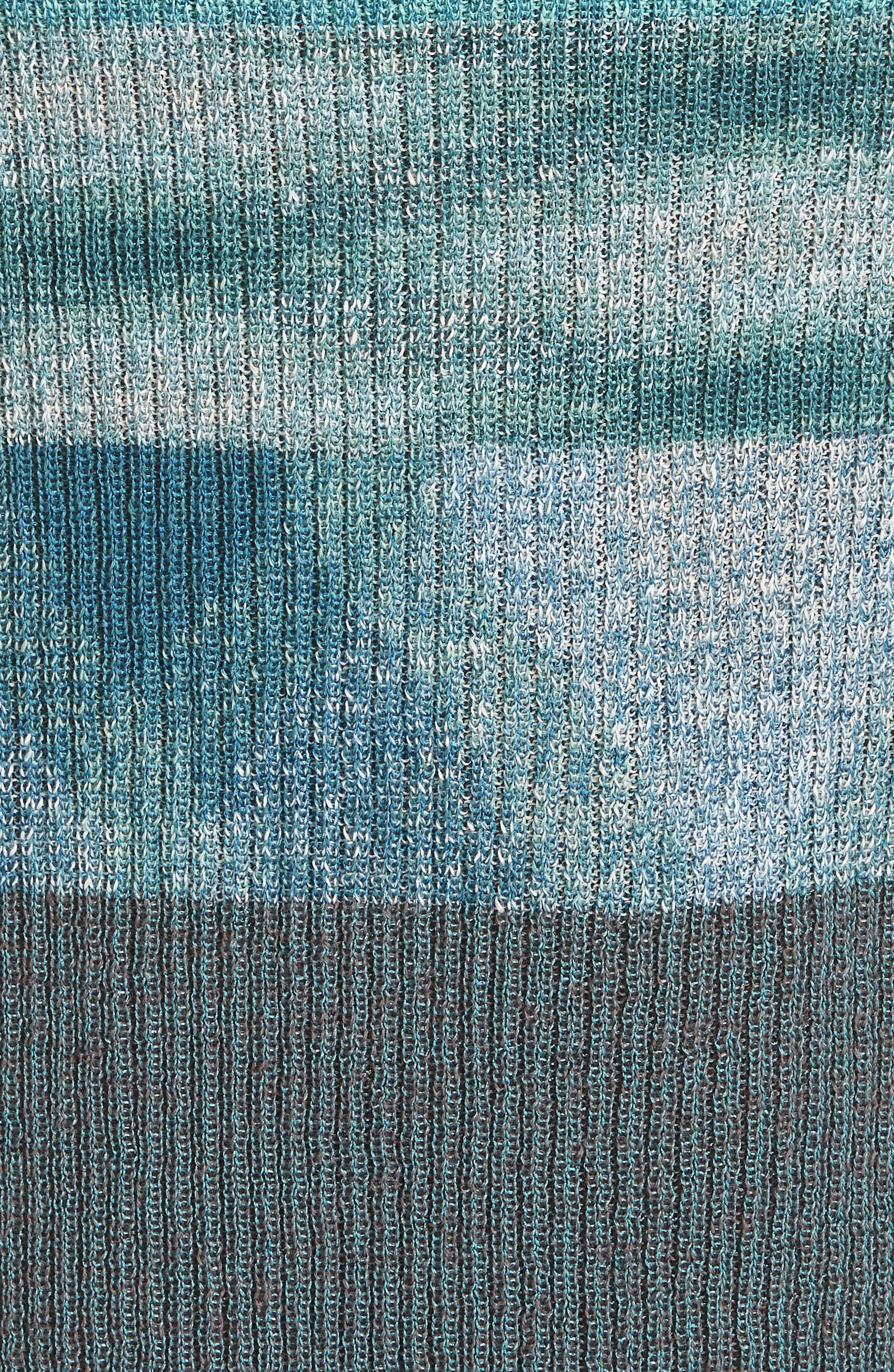 Boatneck Ribbed Dress,                             Alternate thumbnail 5, color,                             BLUE
