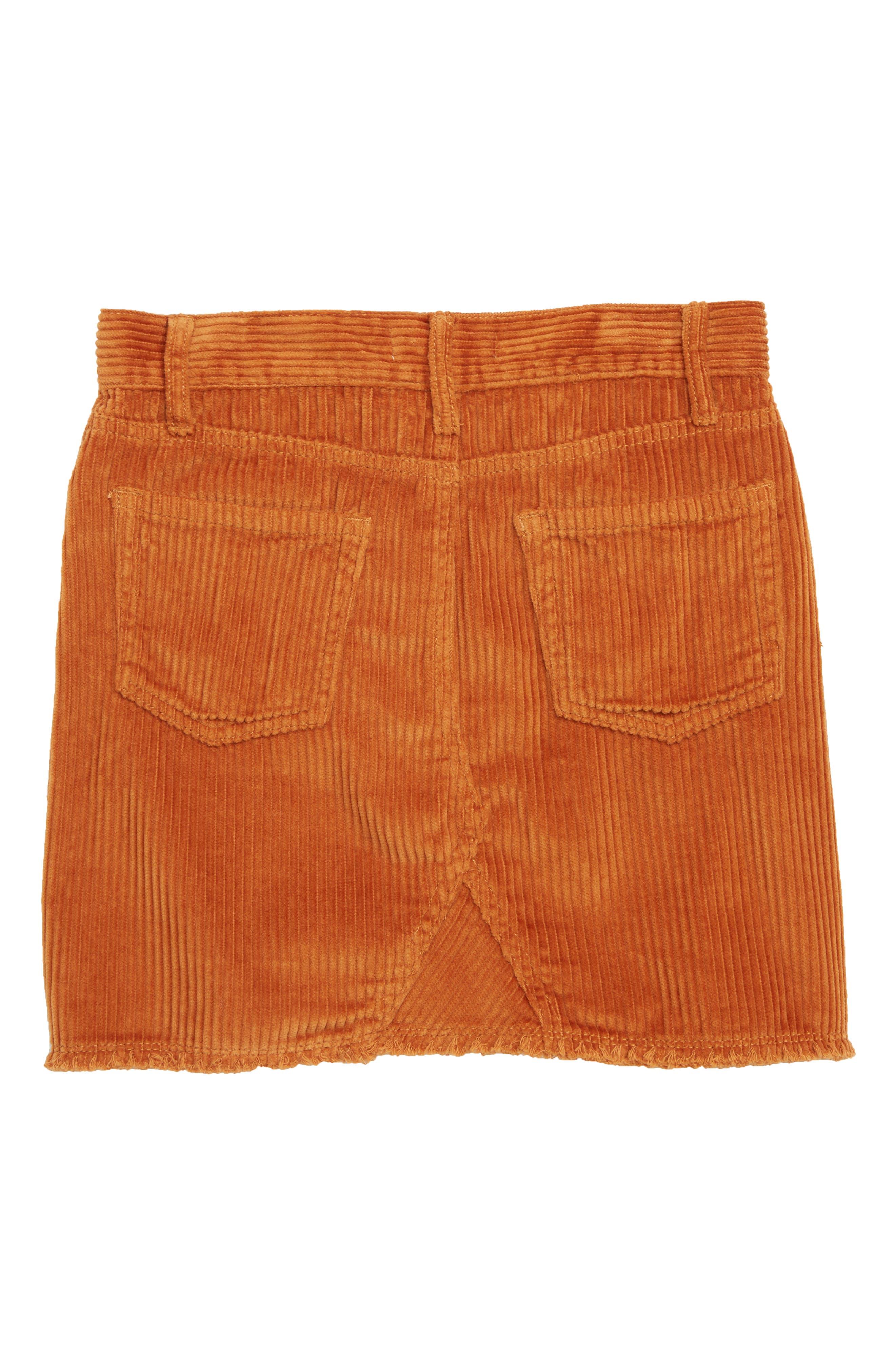 Corduroy Skirt,                             Alternate thumbnail 2, color,                             TAN ADOBE