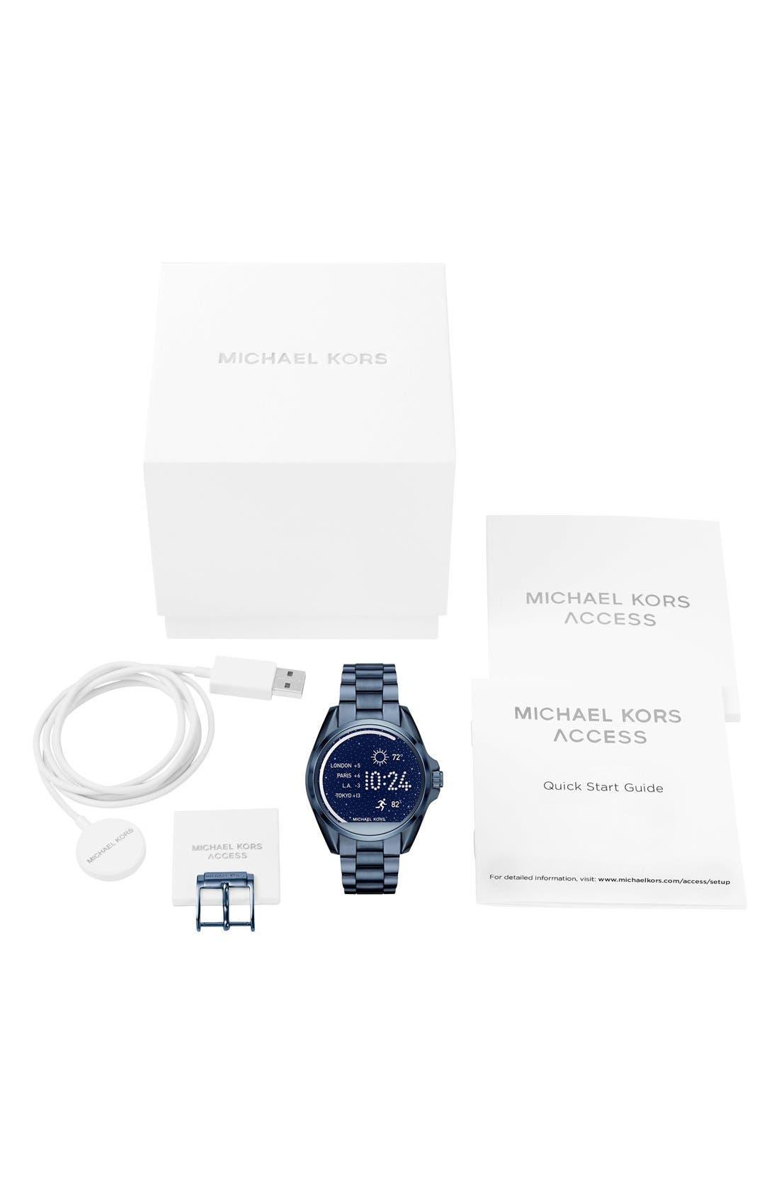 MICHAEL Michael Kors Bradshaw Access Bracelet Smart Watch, 45mm,                             Alternate thumbnail 49, color,