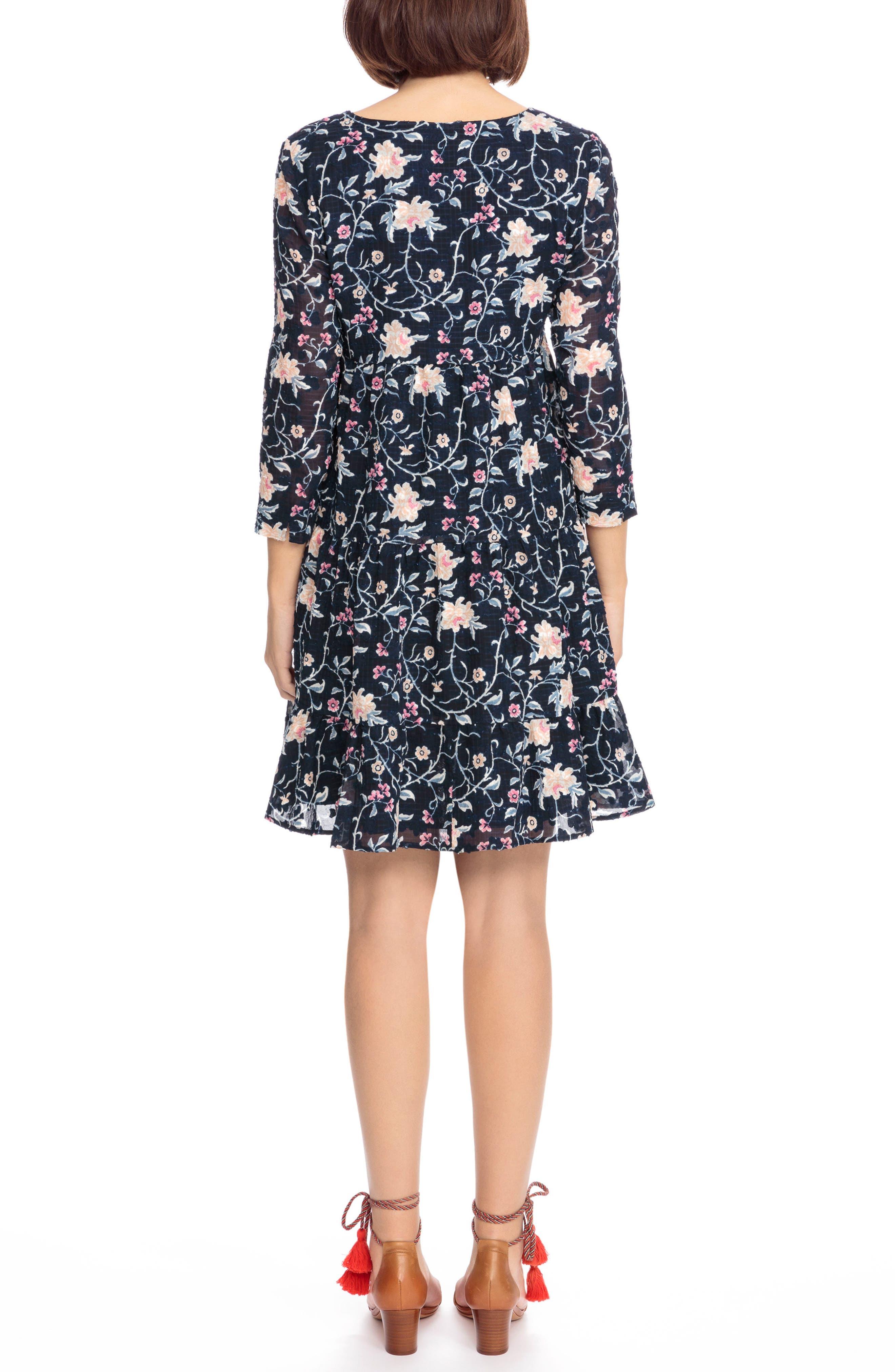 Aure Silk A-Line Dress,                             Alternate thumbnail 4, color,