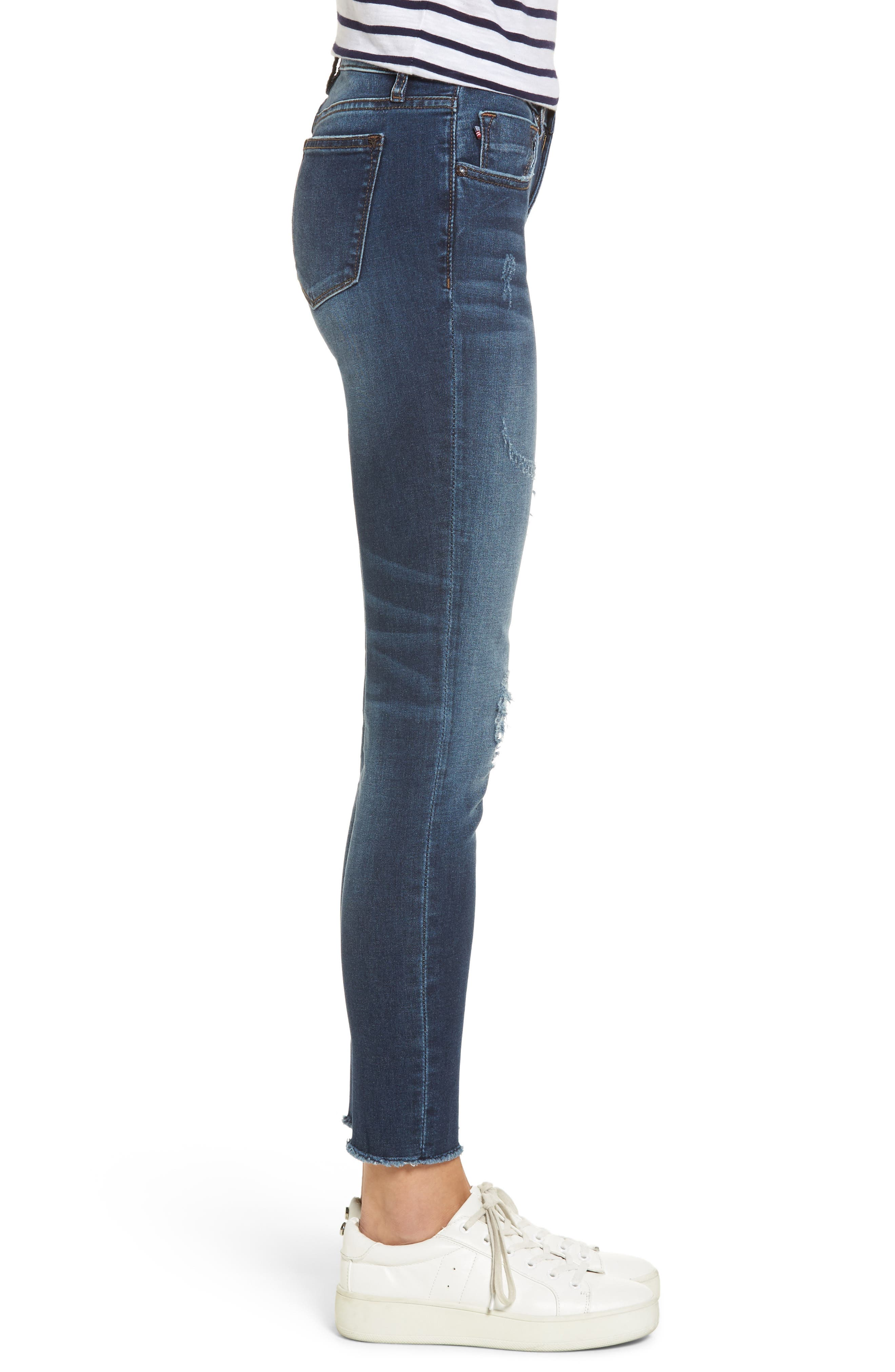 Jagger Distressed Skinny Jeans,                             Alternate thumbnail 3, color,                             403