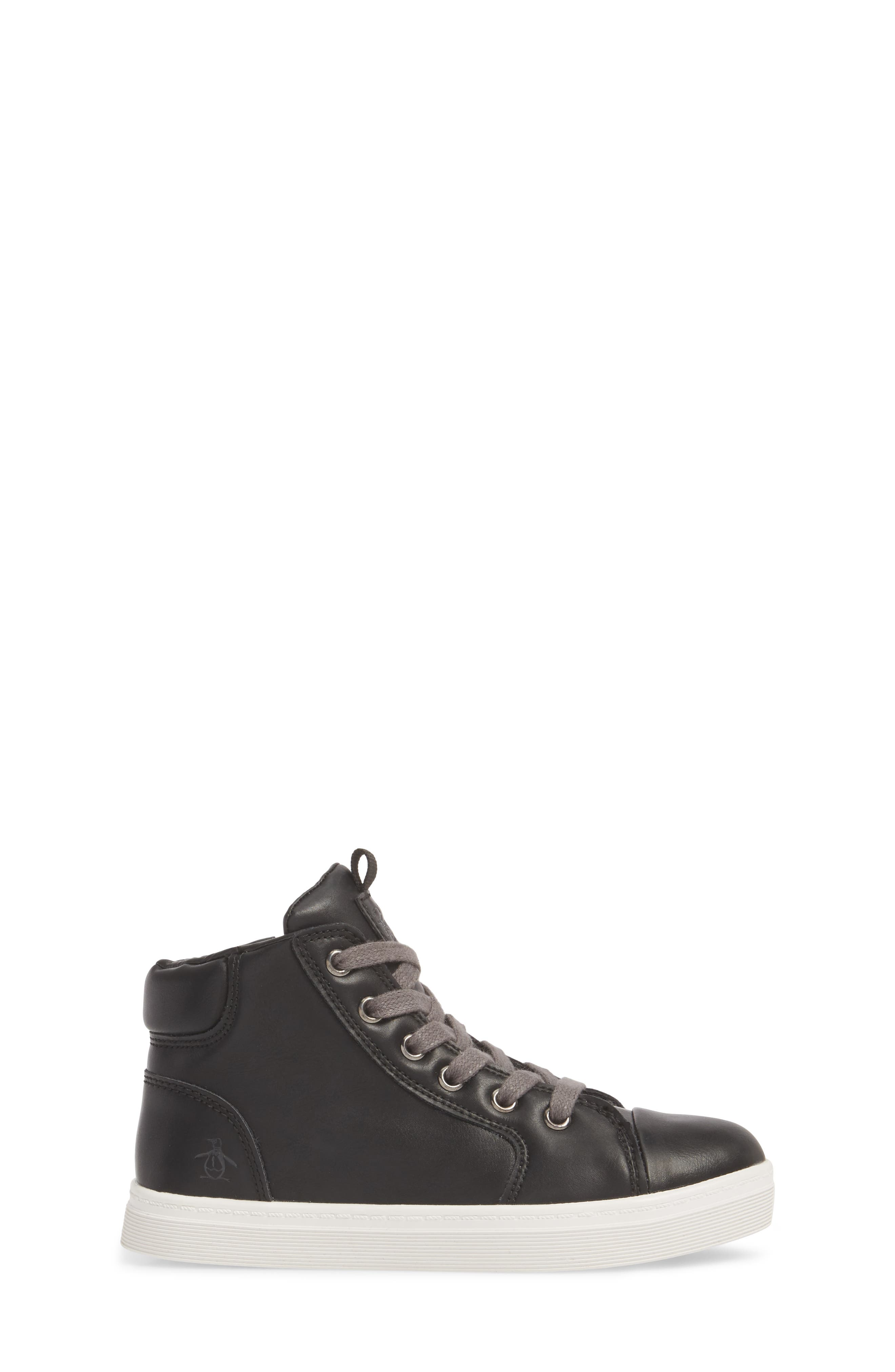 Carson High Top Sneaker,                             Alternate thumbnail 3, color,                             BLACK