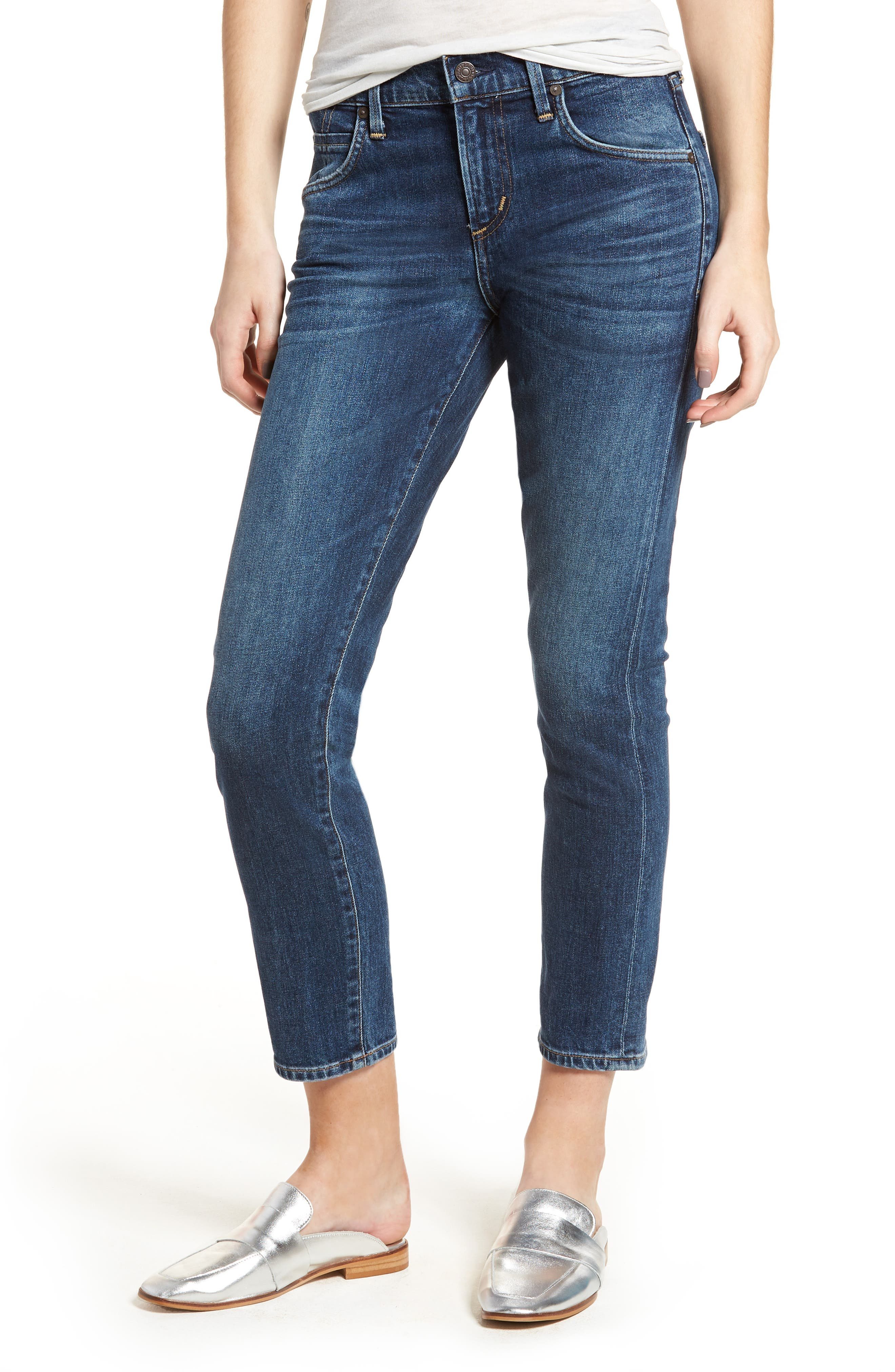 Elsa Crop Slim Jeans,                             Main thumbnail 1, color,                             428