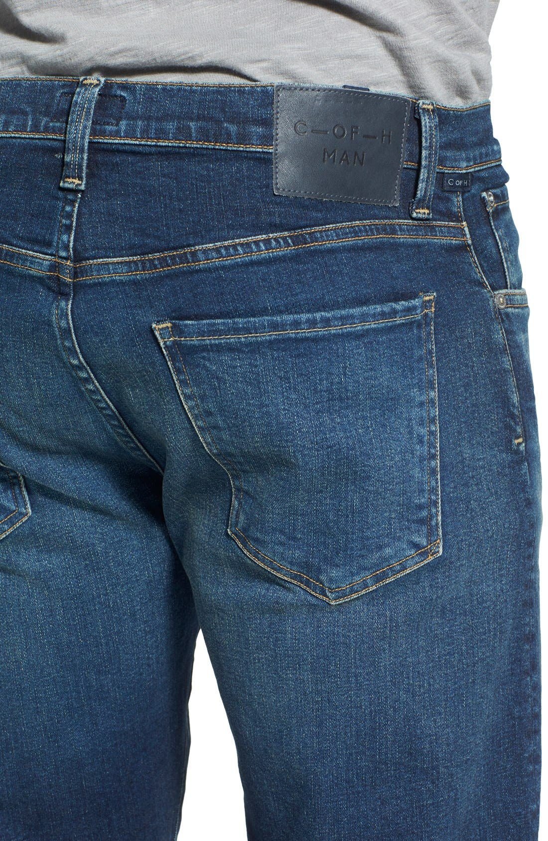 'Core' Slim Straight Leg Jeans,                             Alternate thumbnail 2, color,                             BRIGADE