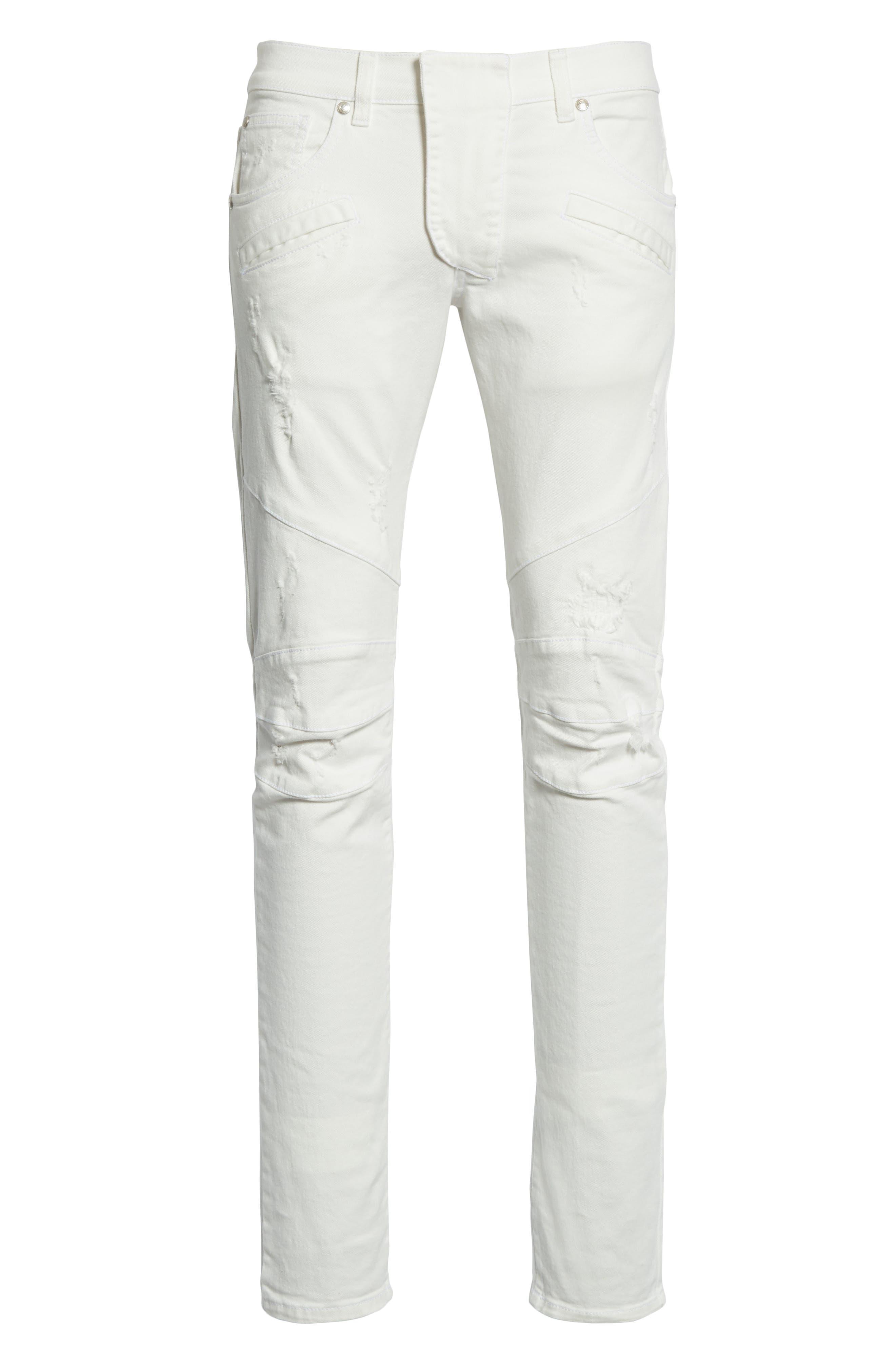 Biker Jeans,                             Alternate thumbnail 6, color,                             100