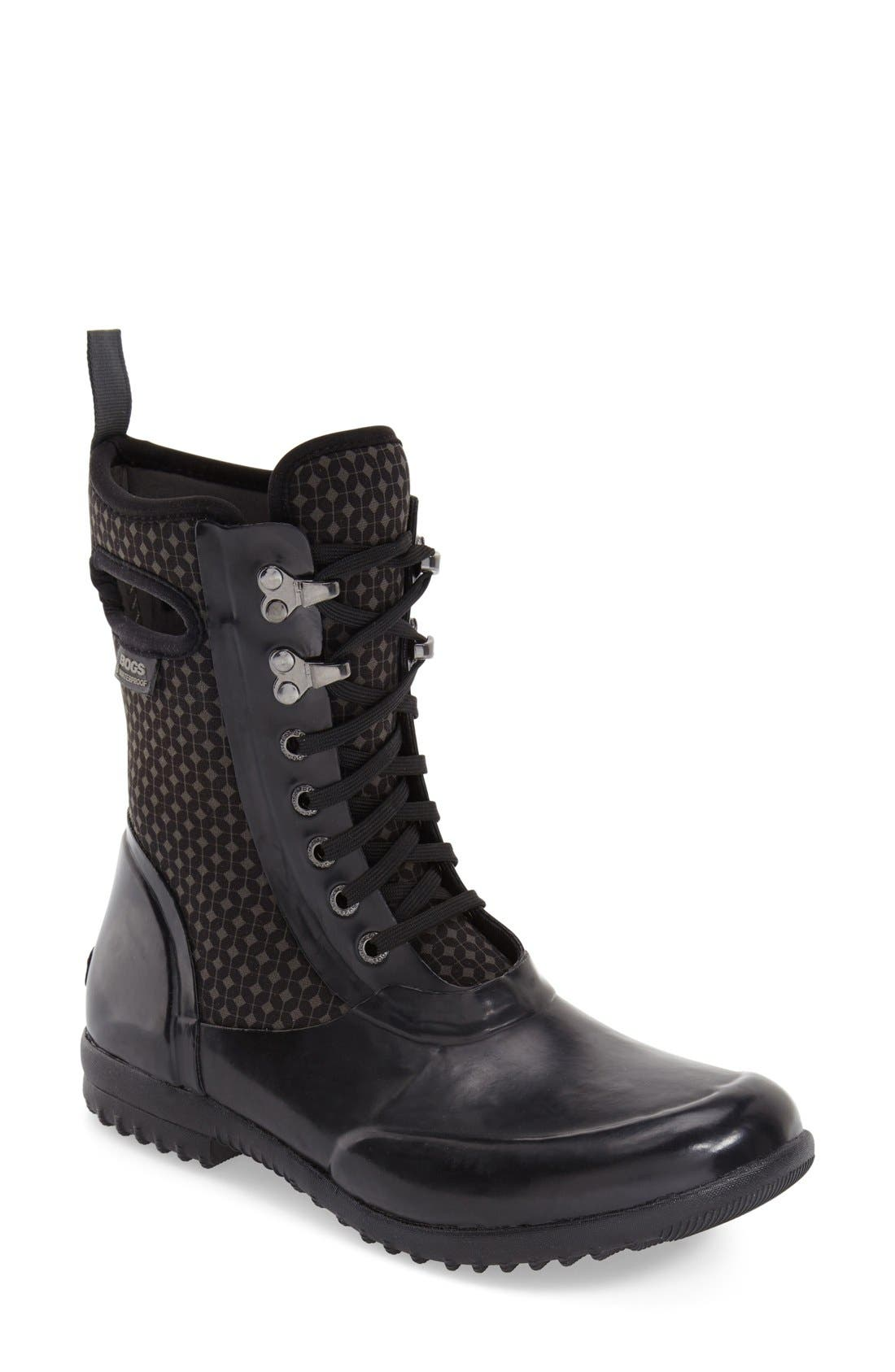 'Sidney Cravat' Lace-Up Waterproof Boot,                         Main,                         color, 009