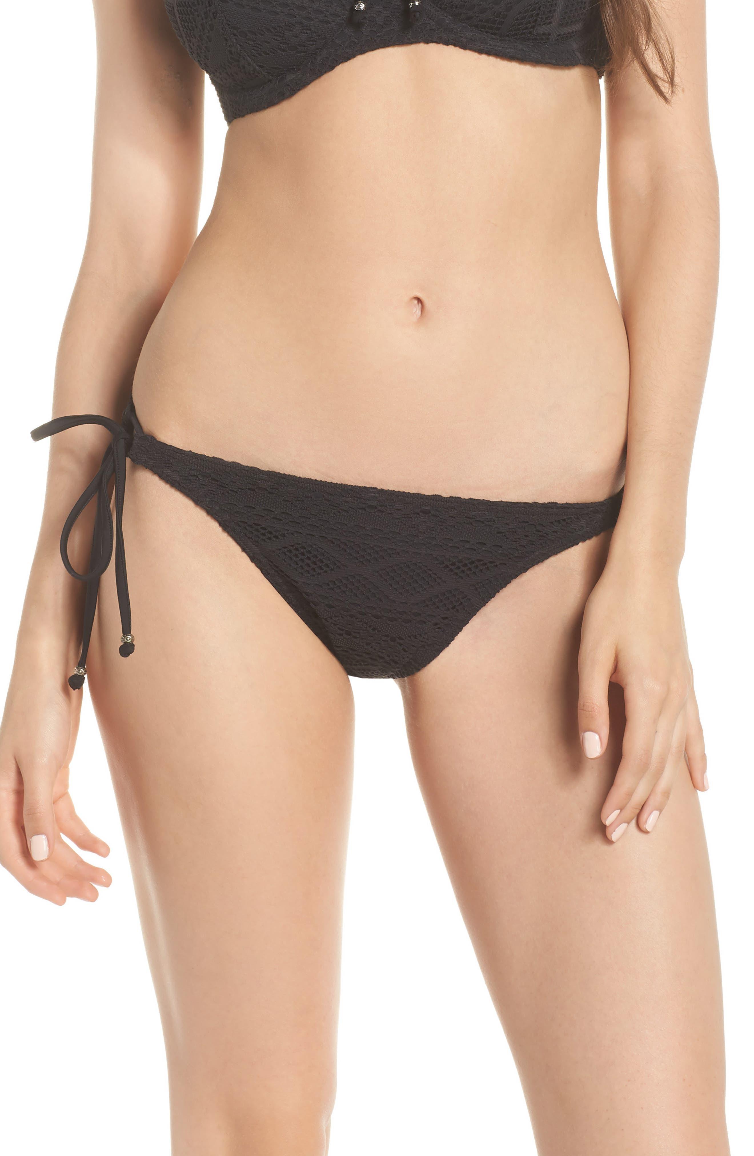 FREYA 'Sundance Rio' Tie Sides Bikini Bottoms in Black