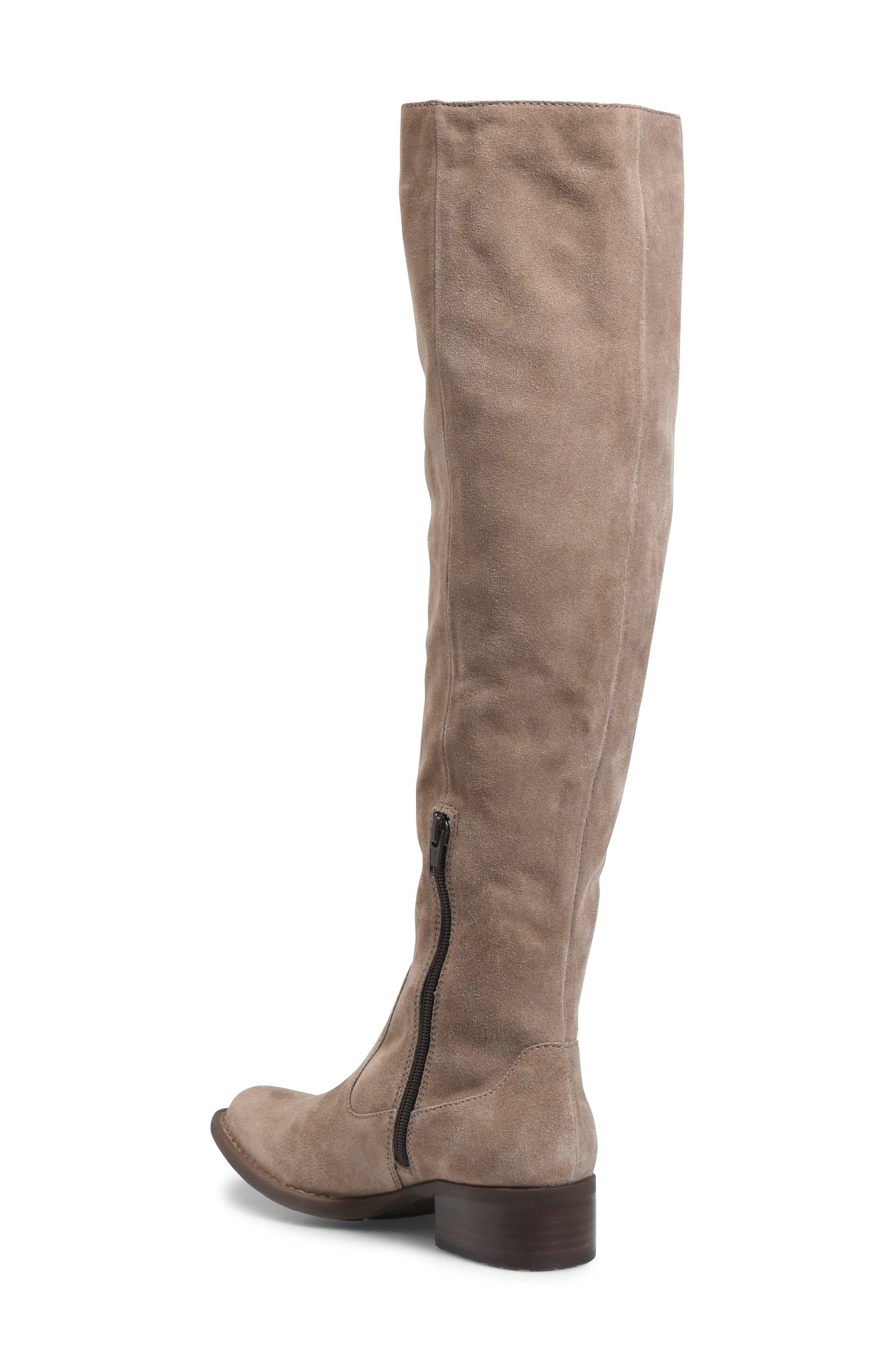 Cricket Over the Knee Boot,                             Alternate thumbnail 2, color,                             TAUPE SUEDE