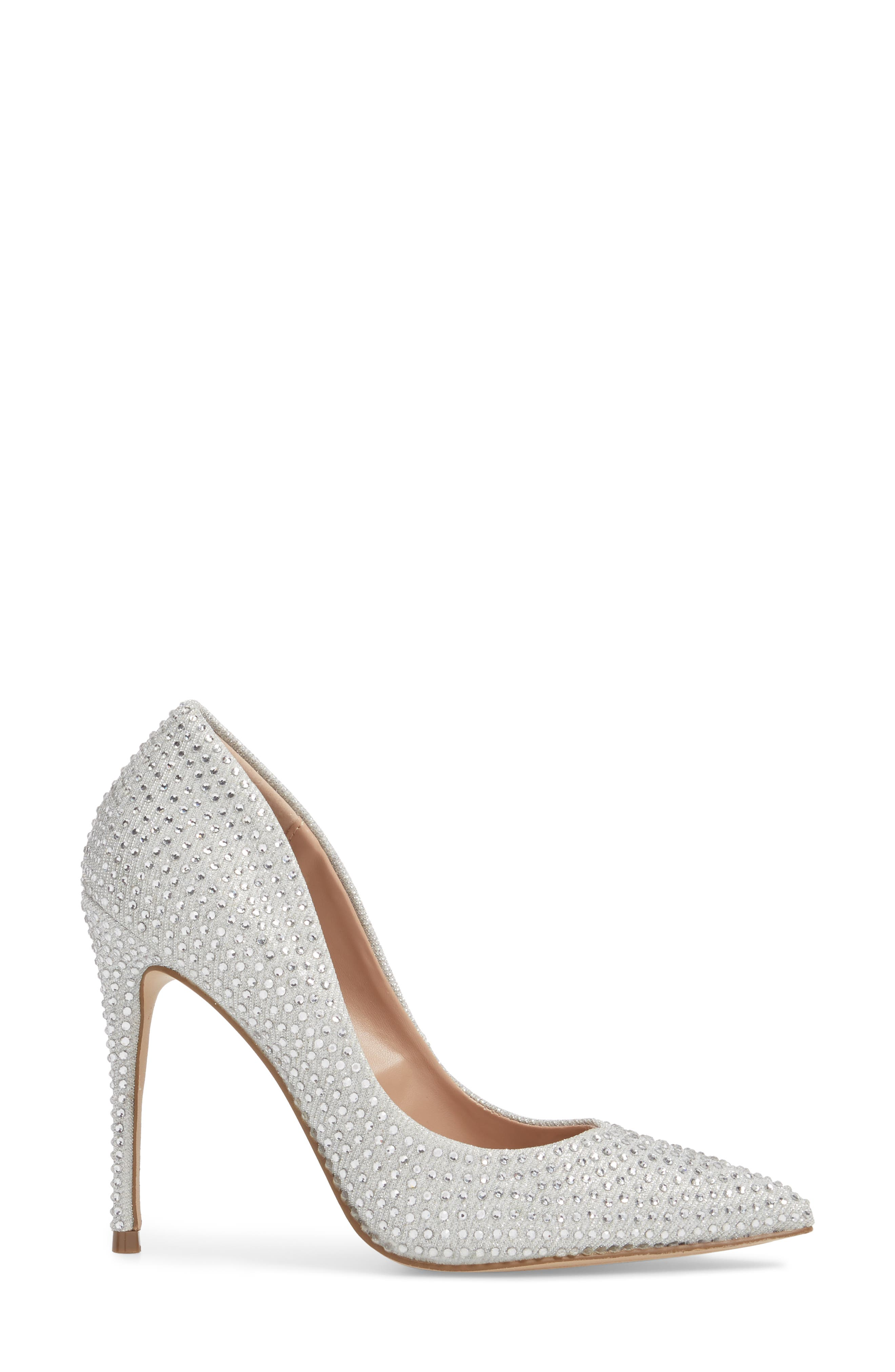 Daisie Pointy-Toe Pump,                             Alternate thumbnail 3, color,                             SILVER
