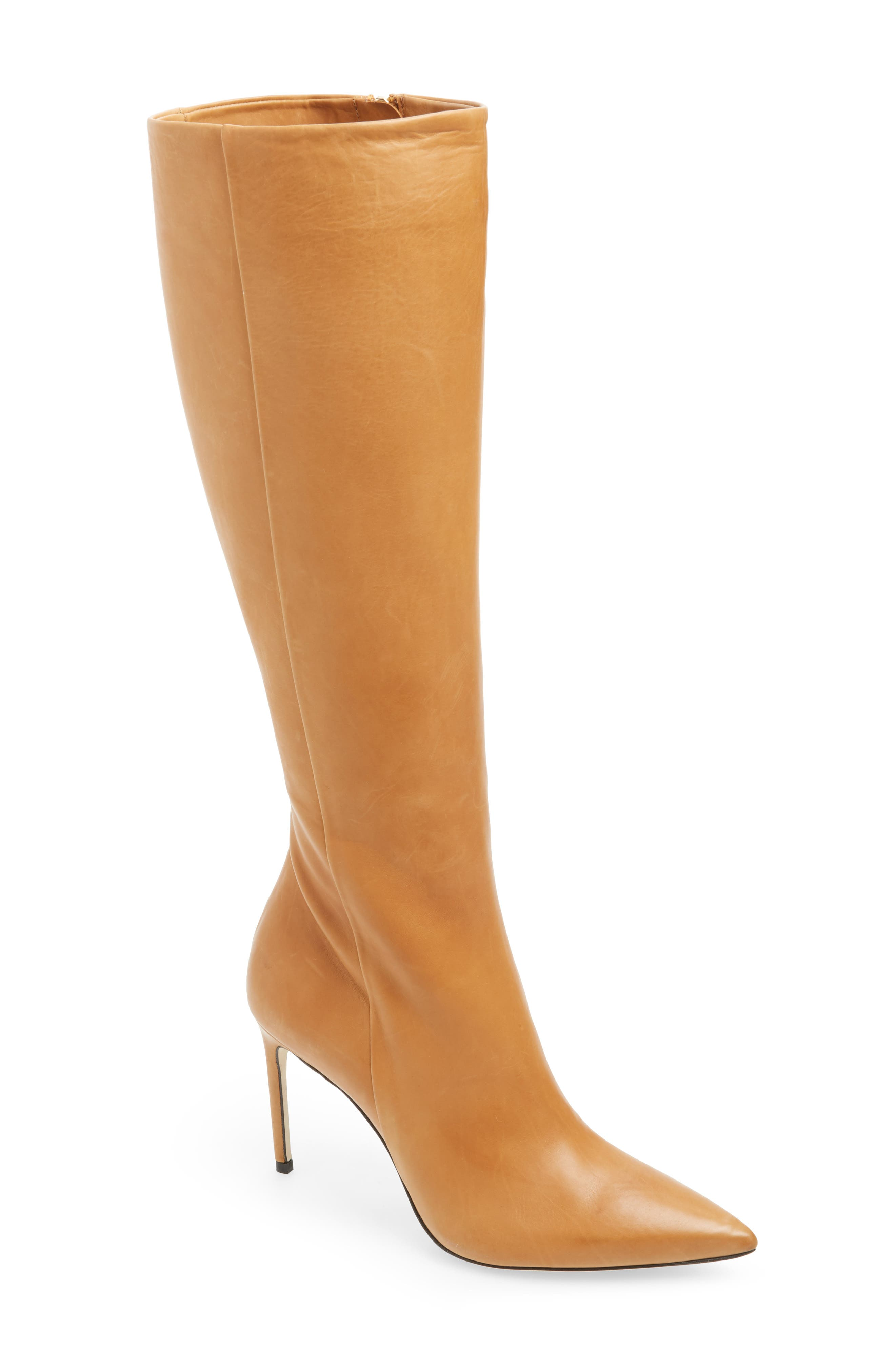 BRIAN ATWOOD Knee High Boot in Camel Leather
