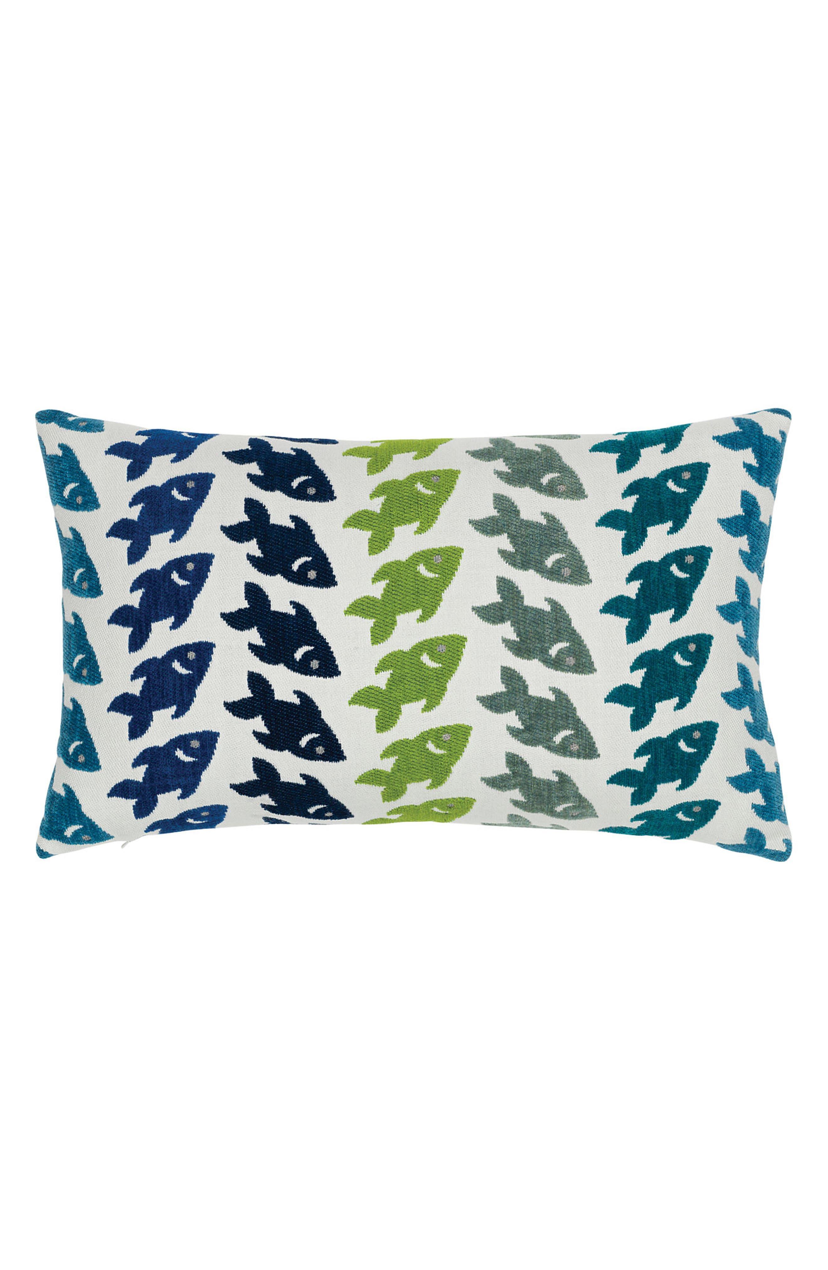 Oceana Deep Sea Lumbar Pillow,                             Main thumbnail 1, color,                             BLUE/ GREEN