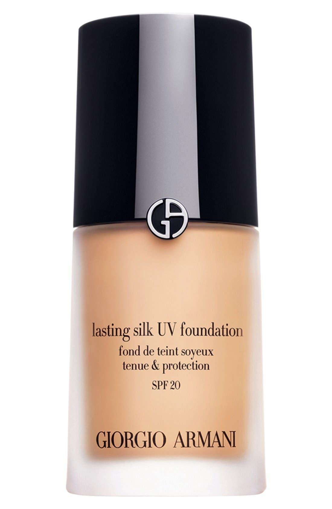 'Lasting Silk' UV Foundation SPF 20,                             Main thumbnail 1, color,                             001