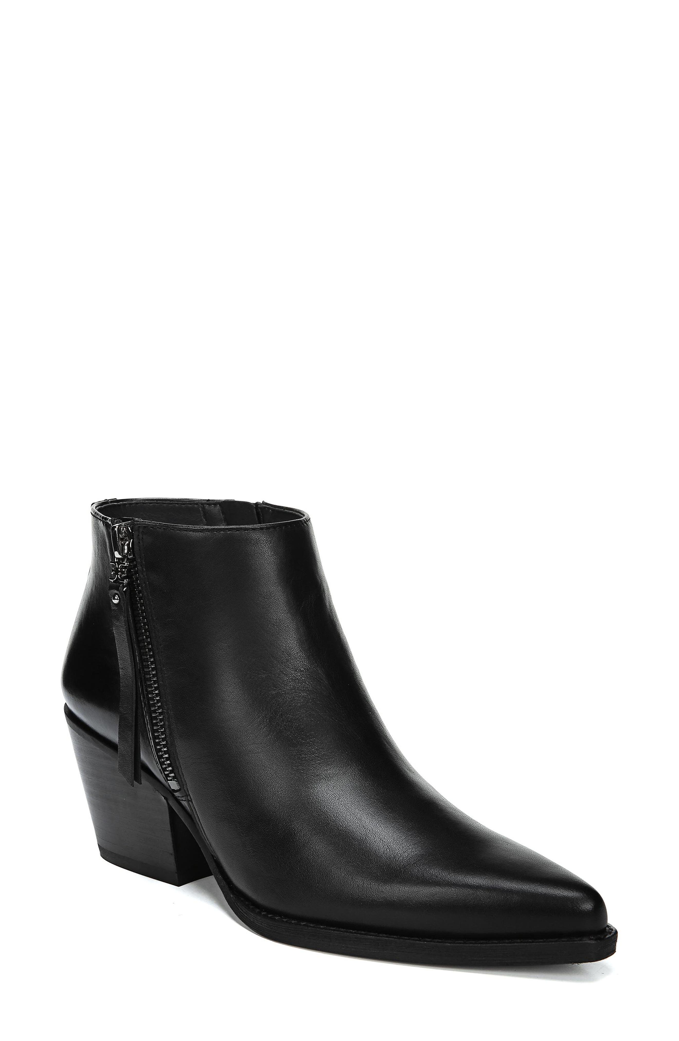Walden Bootie,                         Main,                         color, BLACK LEATHER
