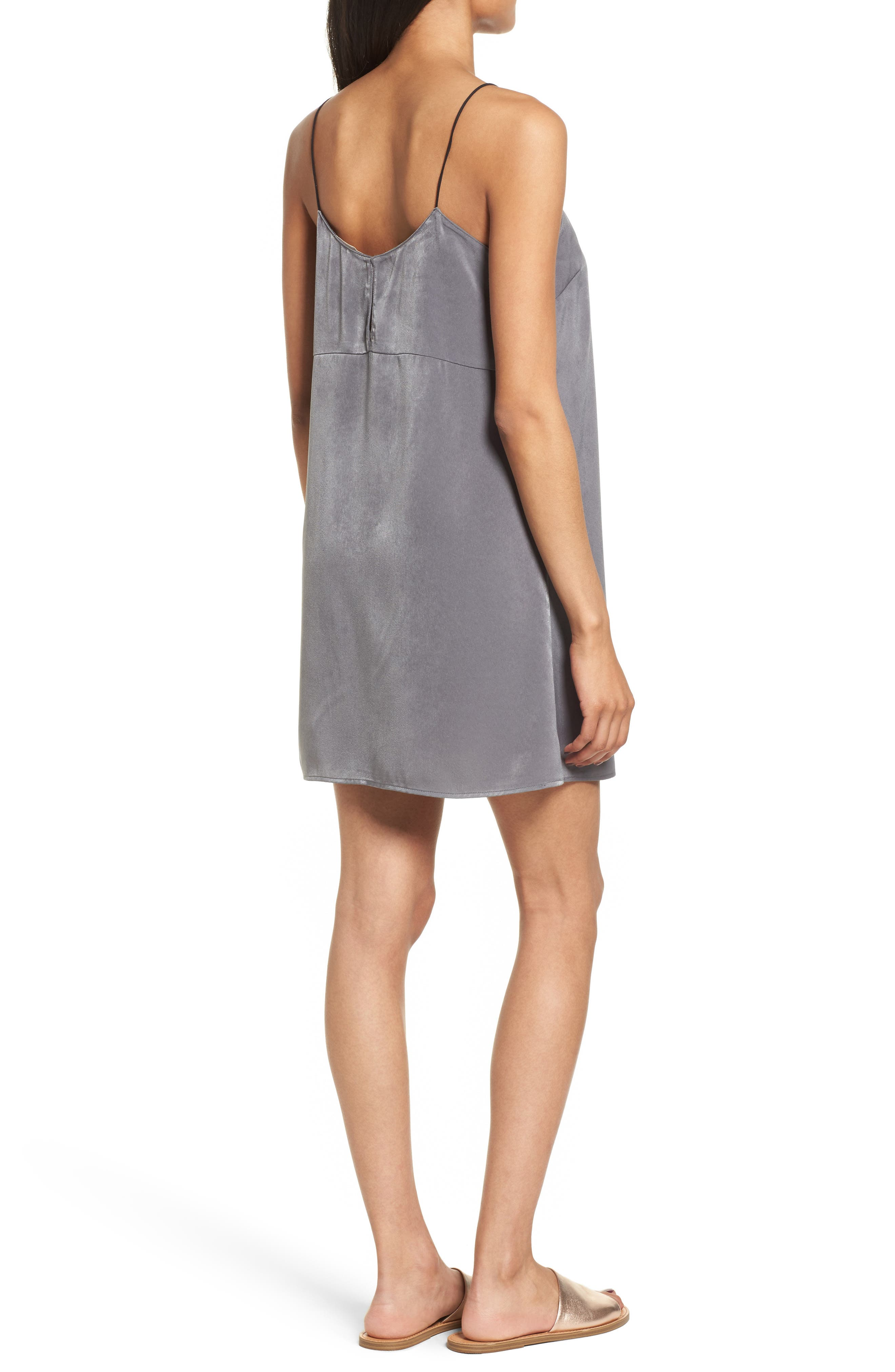 Square Neck Slipdress,                             Alternate thumbnail 2, color,                             060