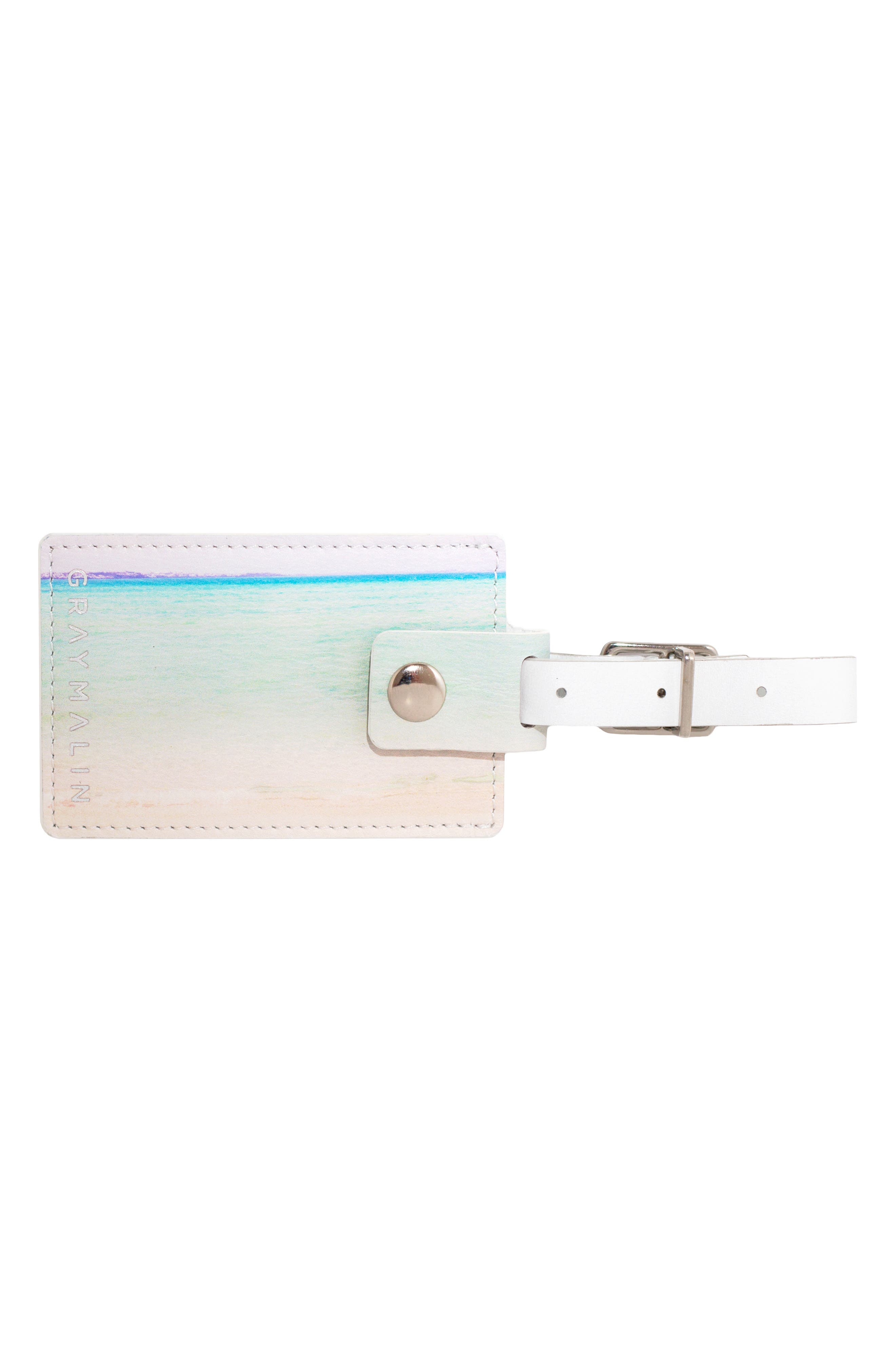 Escape Leather Luggage Tag,                             Alternate thumbnail 3, color,                             250
