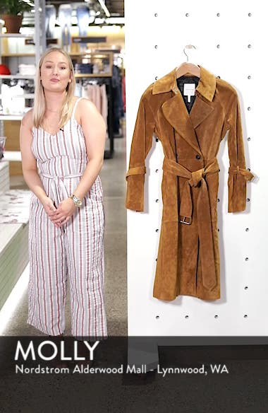 Genuine Suede Trench Coat, sales video thumbnail