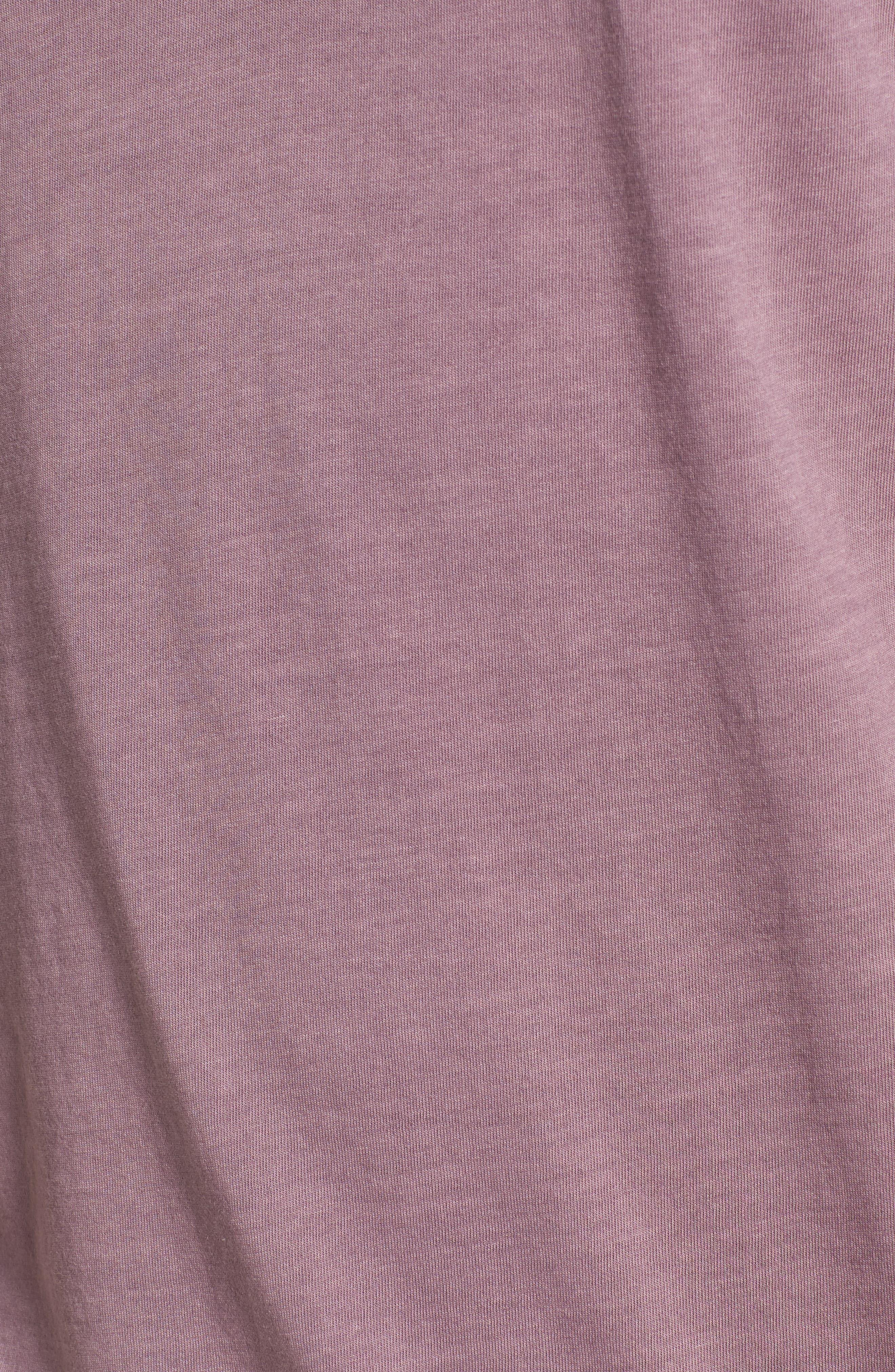 Short Sleeve Henley,                             Alternate thumbnail 5, color,                             WILD ROSE
