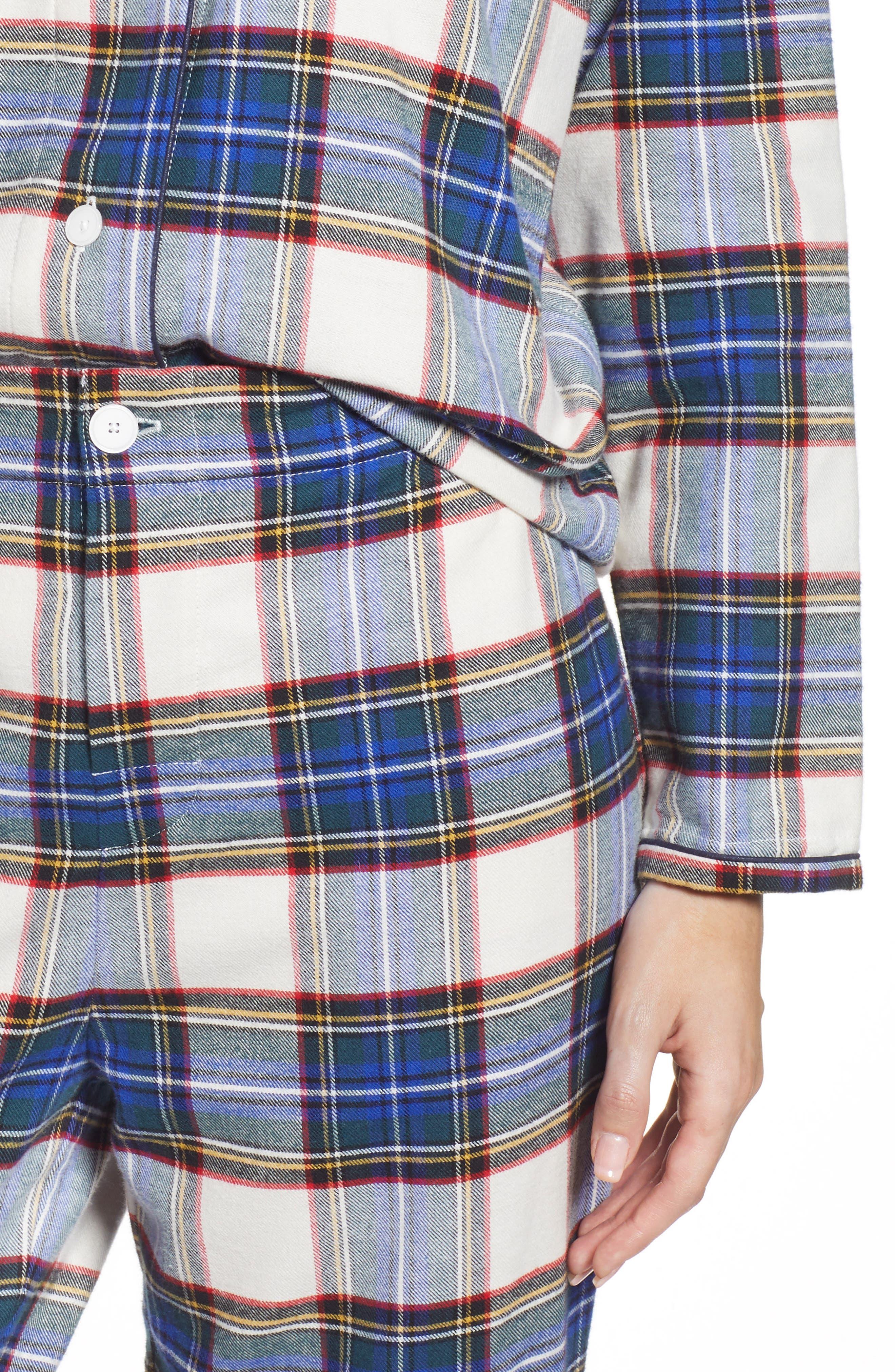Bishop Women's Pajamas,                             Alternate thumbnail 4, color,                             FLANNEL PLAID
