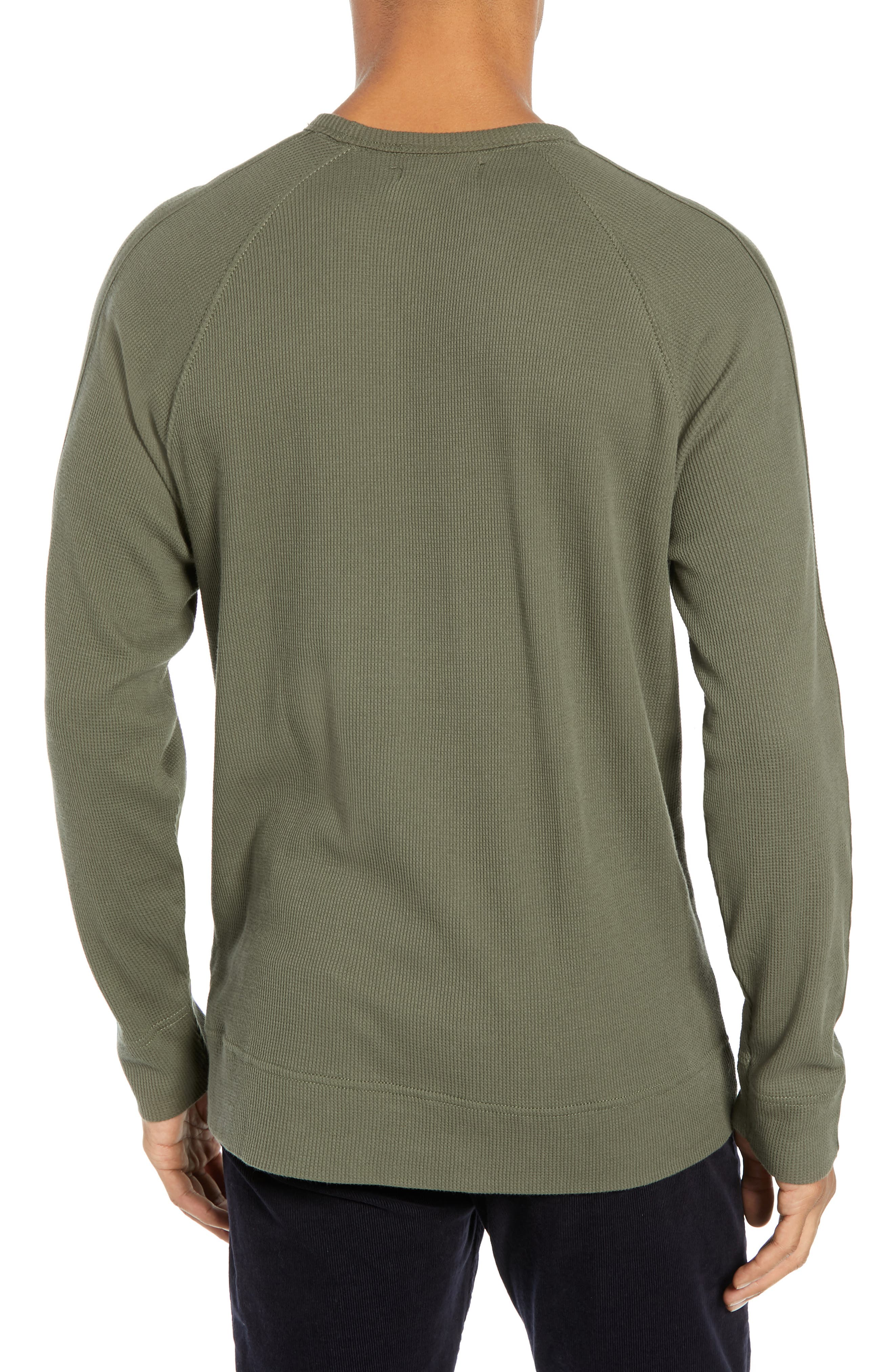 Waffle Knit Pullover,                             Alternate thumbnail 2, color,                             INFANTRY GREEN