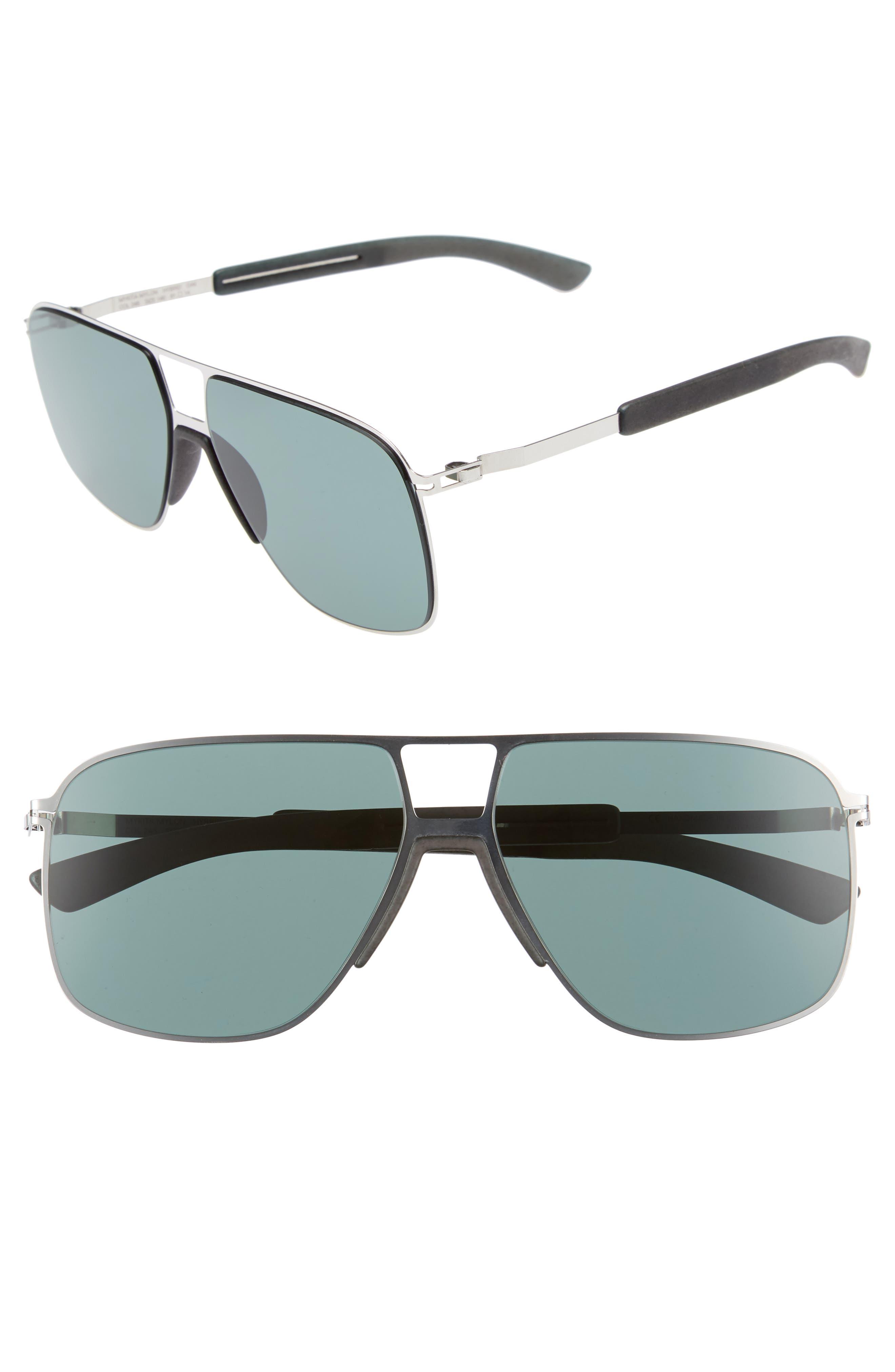 Oak 61mm Aviator Sunglasses,                             Main thumbnail 2, color,