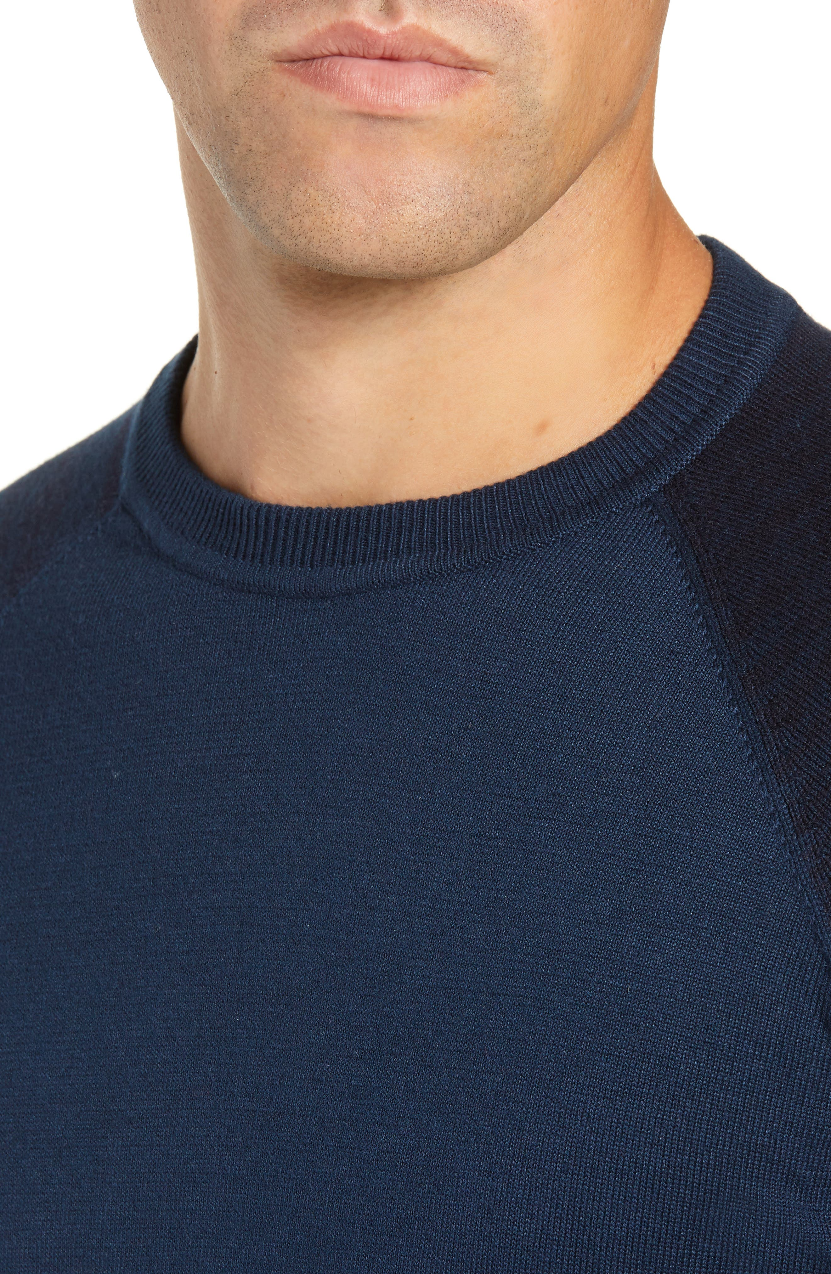 Cornfed Slim Fit Sweater,                             Alternate thumbnail 4, color,                             TEAL-BLUE