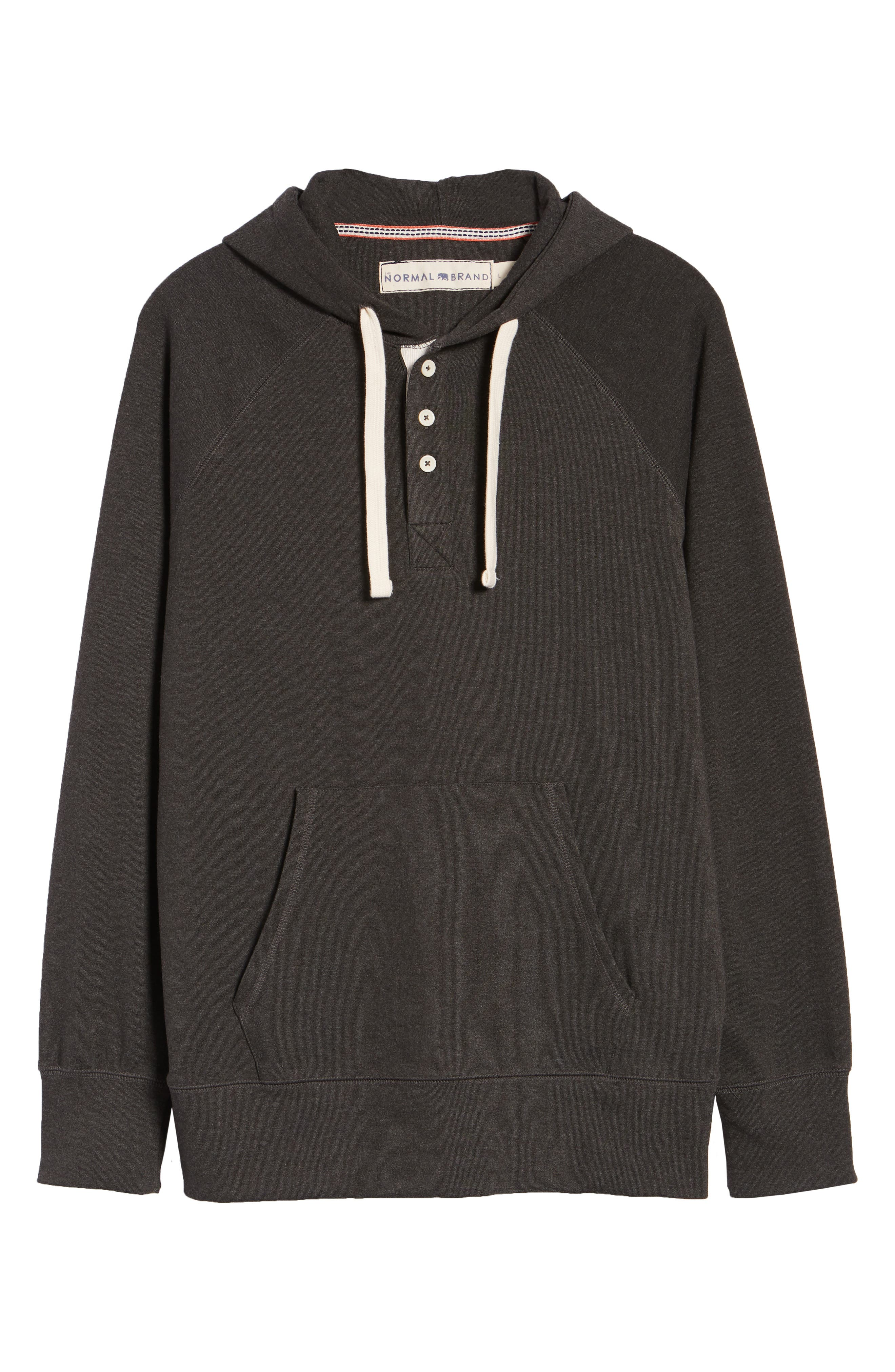 Puremeso Pullover Hoodie,                             Alternate thumbnail 6, color,                             CHARCOAL