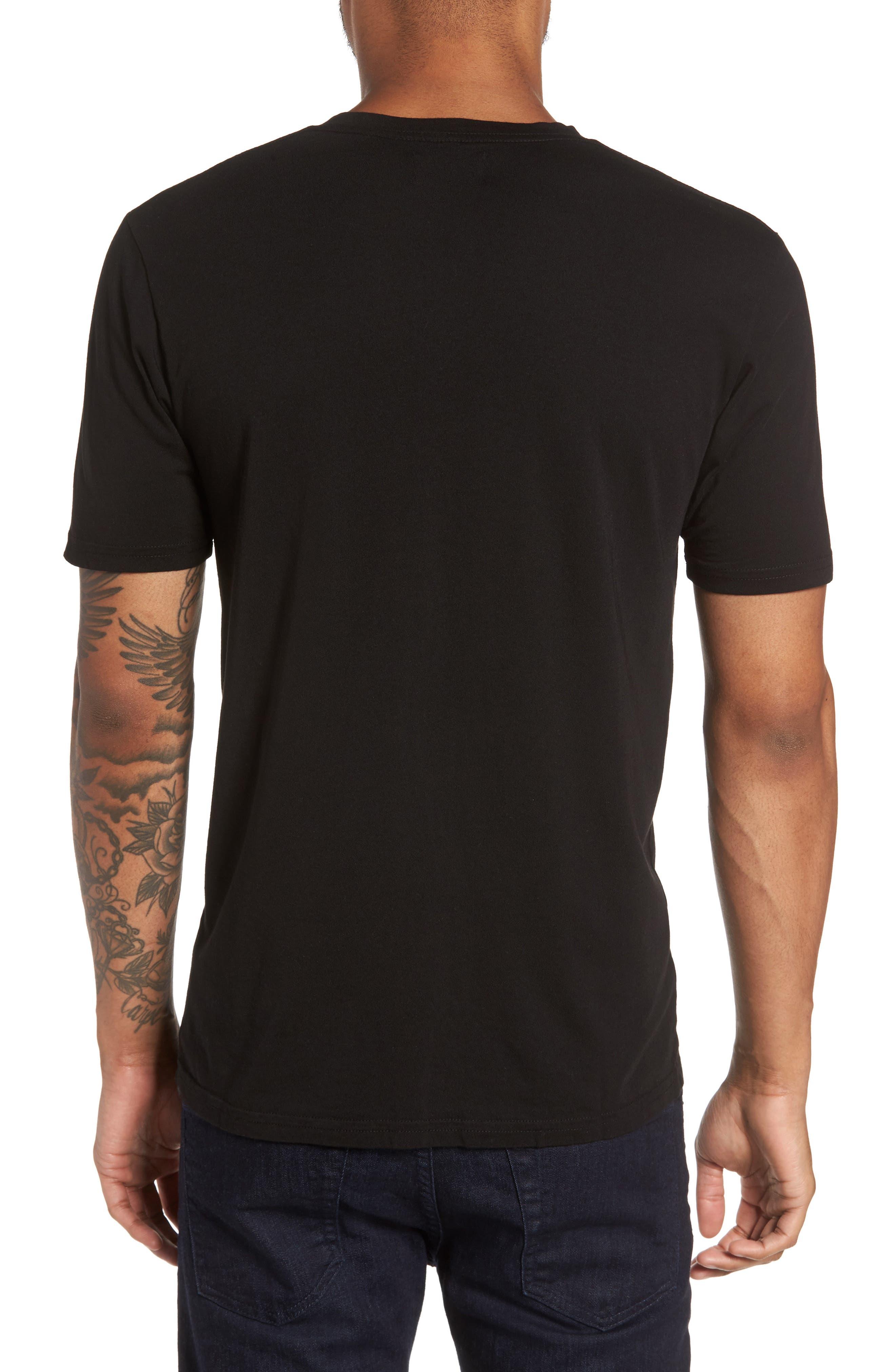 Classic Supima Cotton Blend V-Neck T-Shirt,                             Alternate thumbnail 2, color,                             BLACK