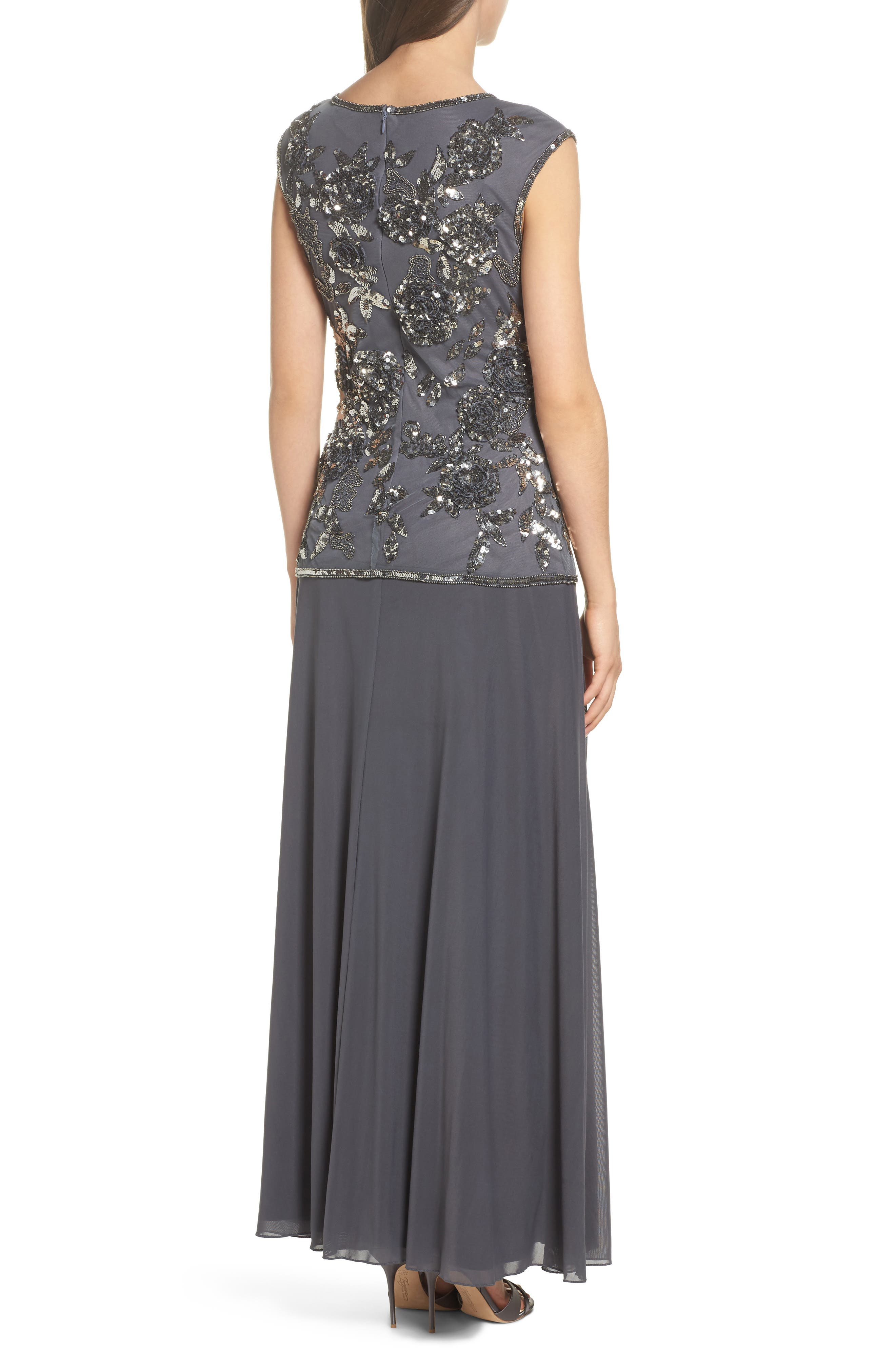 Embellished Long Dress,                             Alternate thumbnail 2, color,                             020