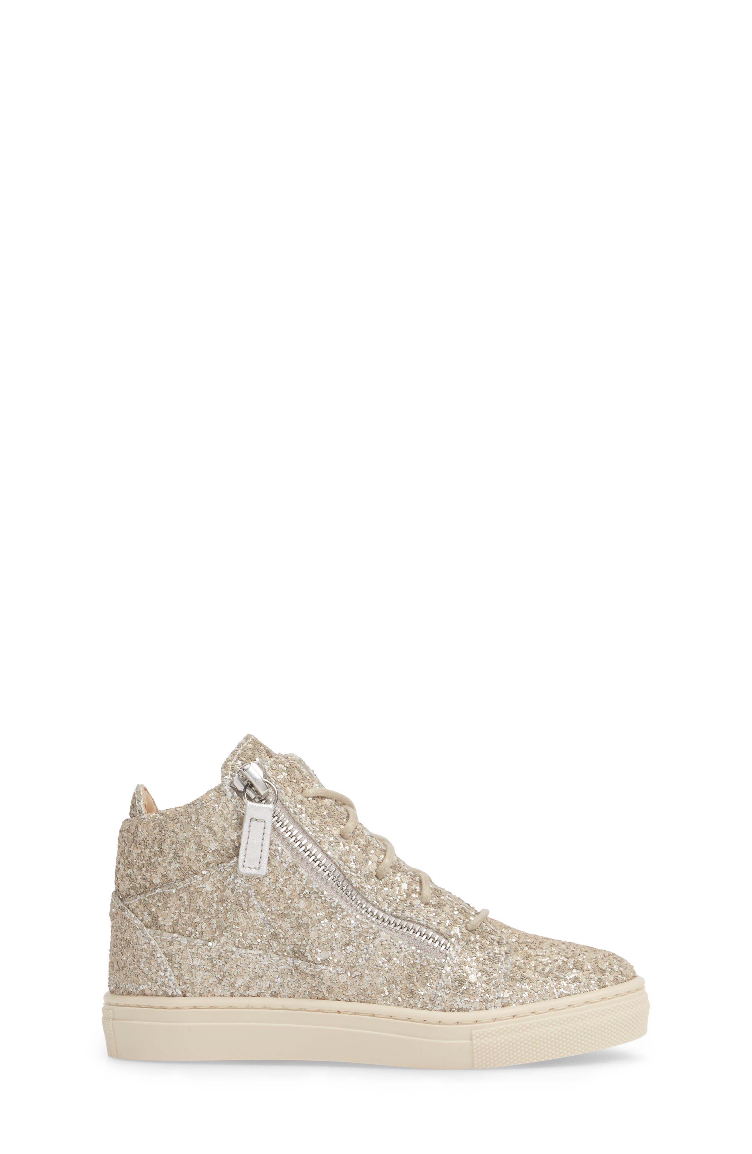 GIUSEPPE ZANOTTI,                             Natalie High Top Sneaker,                             Alternate thumbnail 3, color,                             040