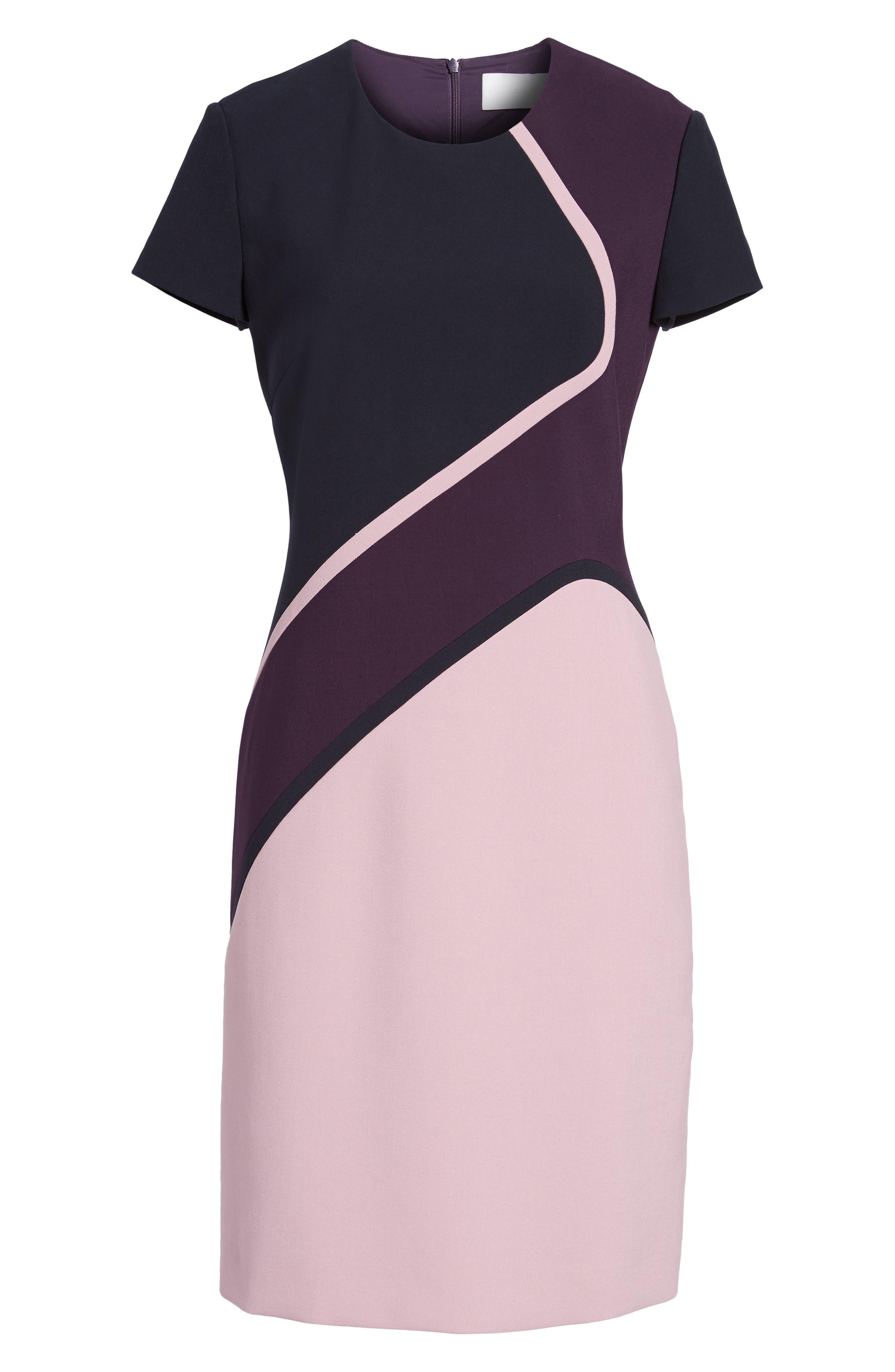Dukatia Colorblock Sheath Dress,                             Alternate thumbnail 6, color,                             502