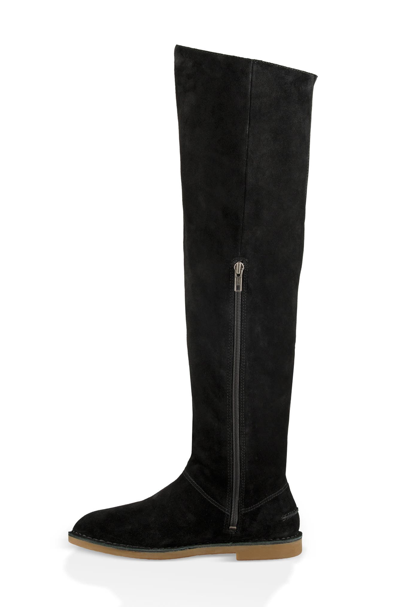 Loma Over the Knee Boot,                             Alternate thumbnail 6, color,                             BLACK SUEDE