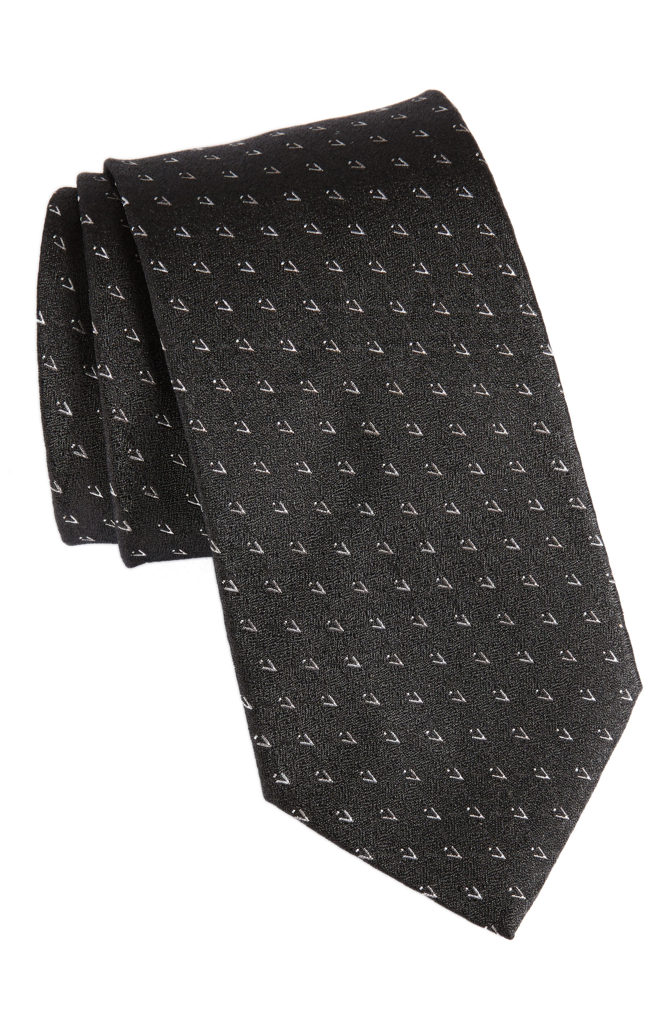 Geometric Silk Tie,                             Main thumbnail 1, color,                             001