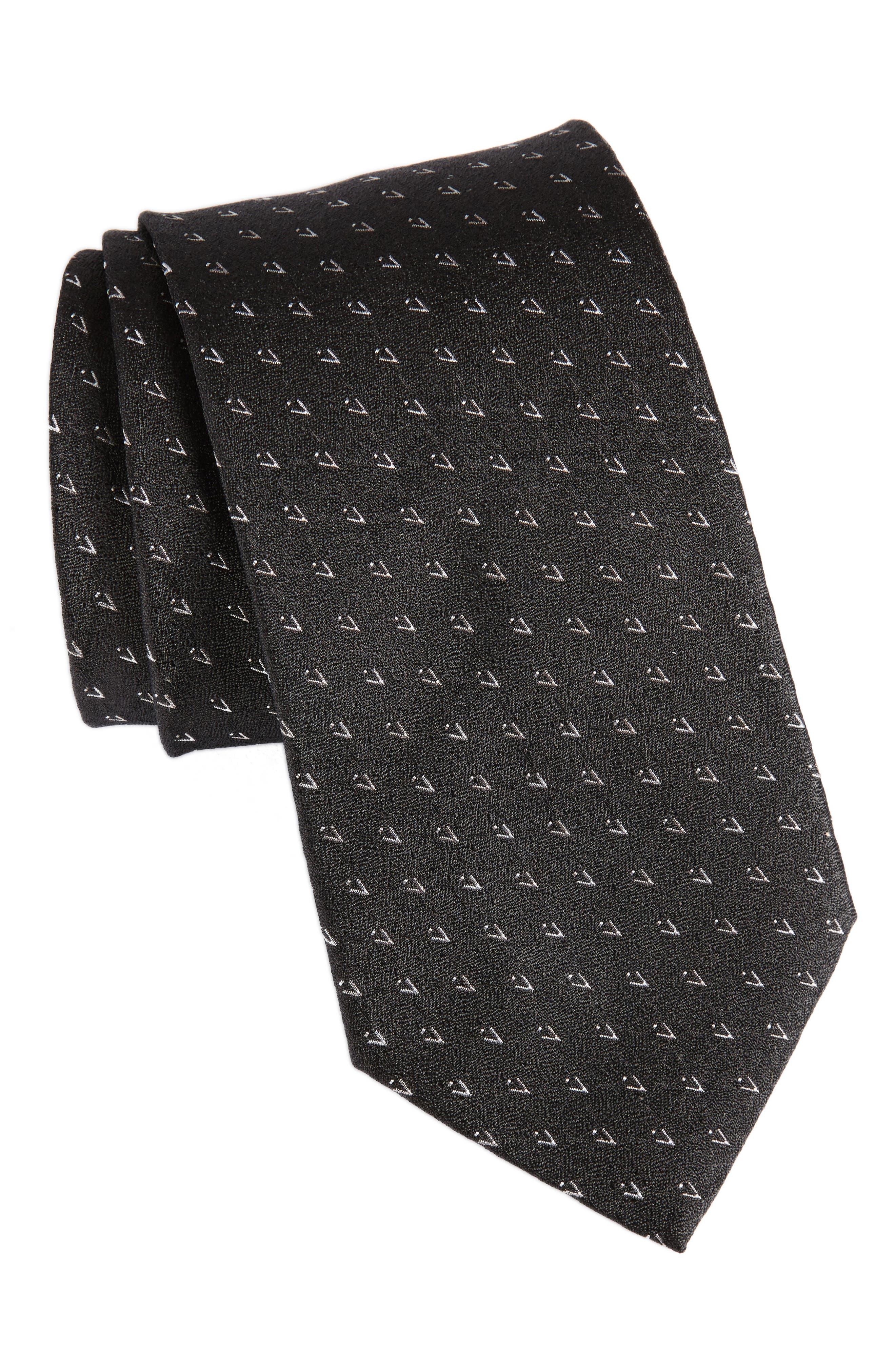 Geometric Silk Tie,                         Main,                         color, 001