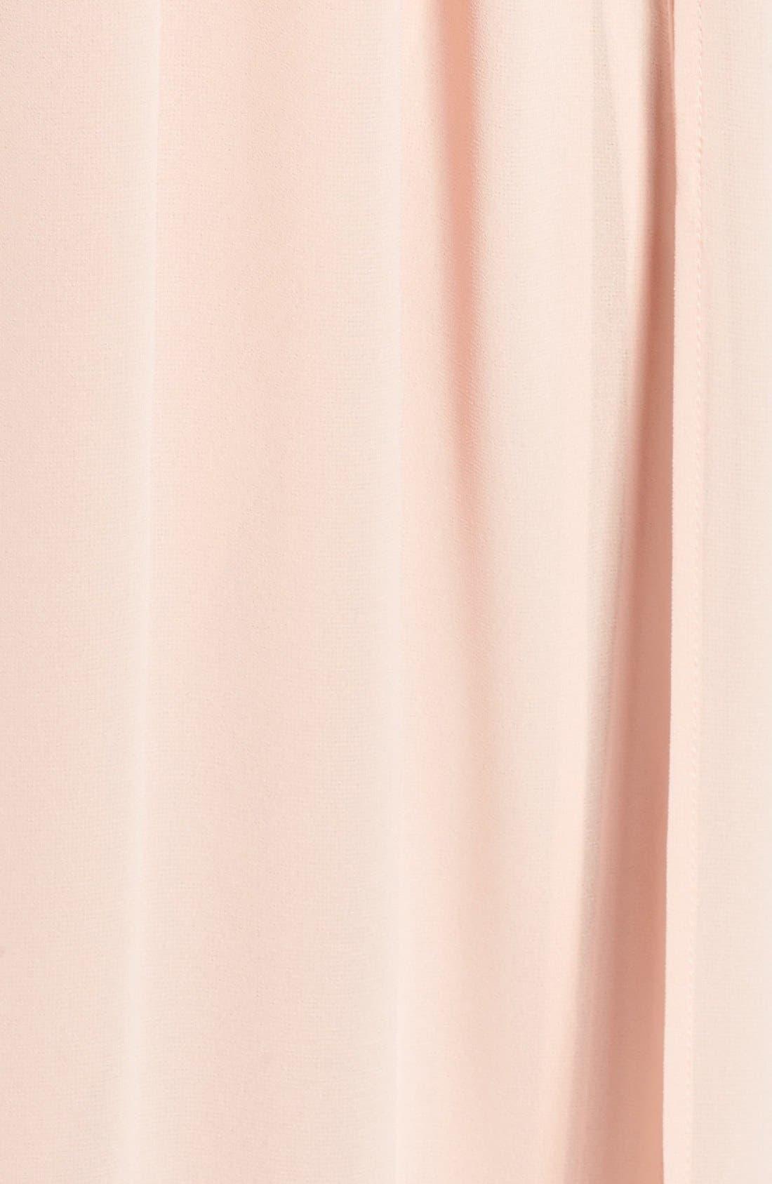 Plunging V-Neck Chiffon Gown,                             Alternate thumbnail 9, color,                             BLUSH
