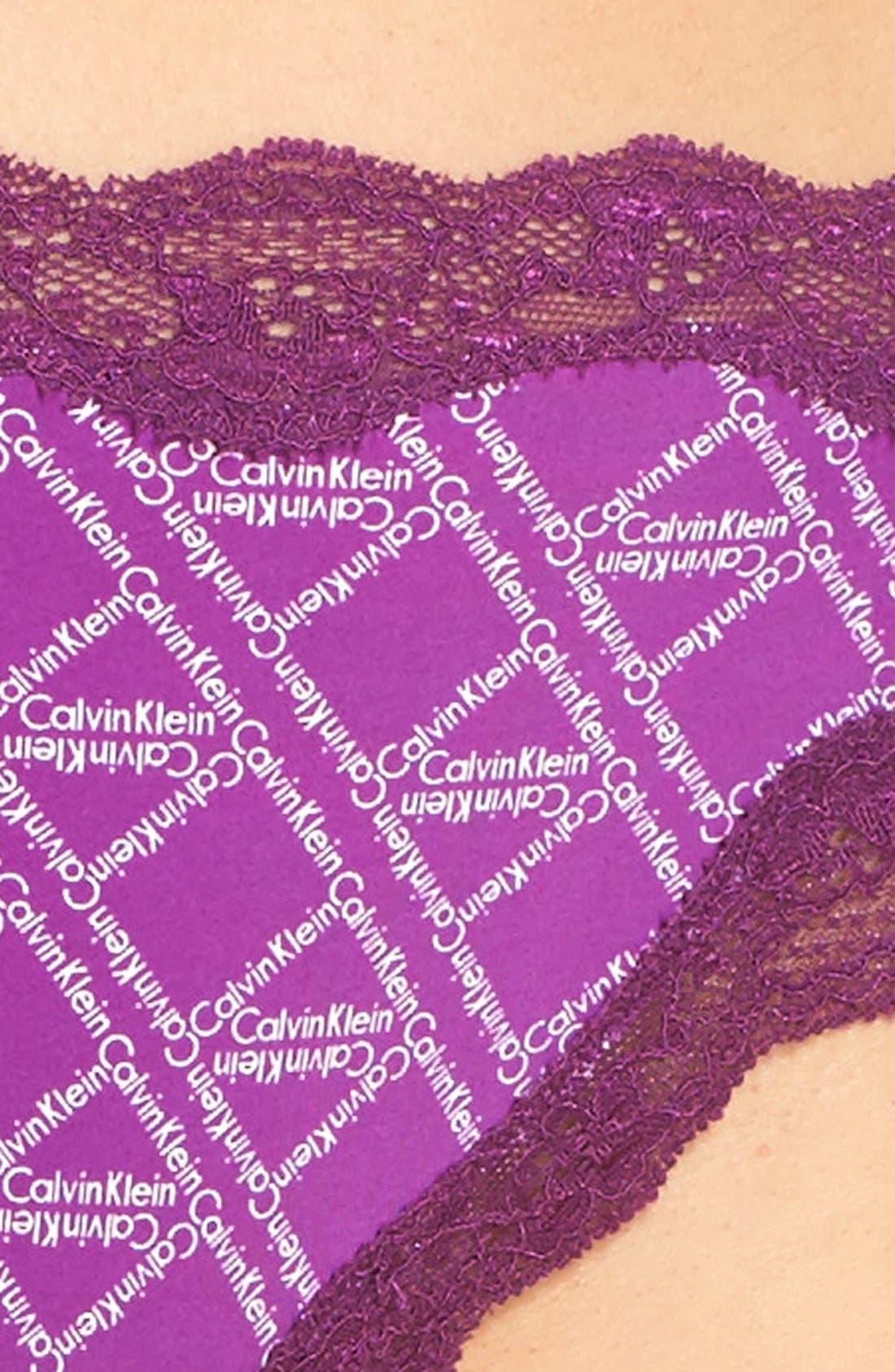 Lace Trim Thong,                             Alternate thumbnail 32, color,