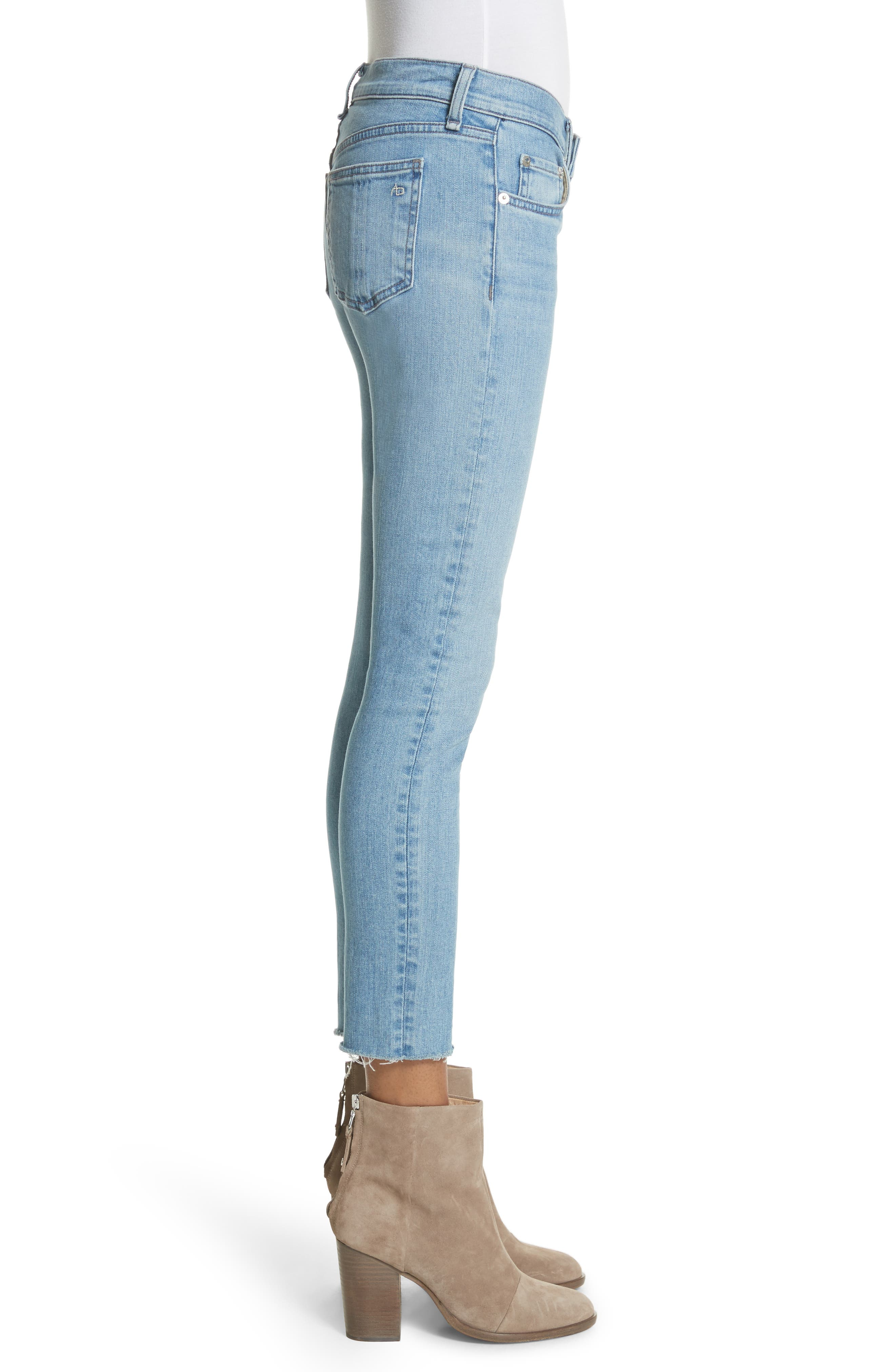 Ripped Ankle Skinny Jeans,                             Alternate thumbnail 3, color,                             425